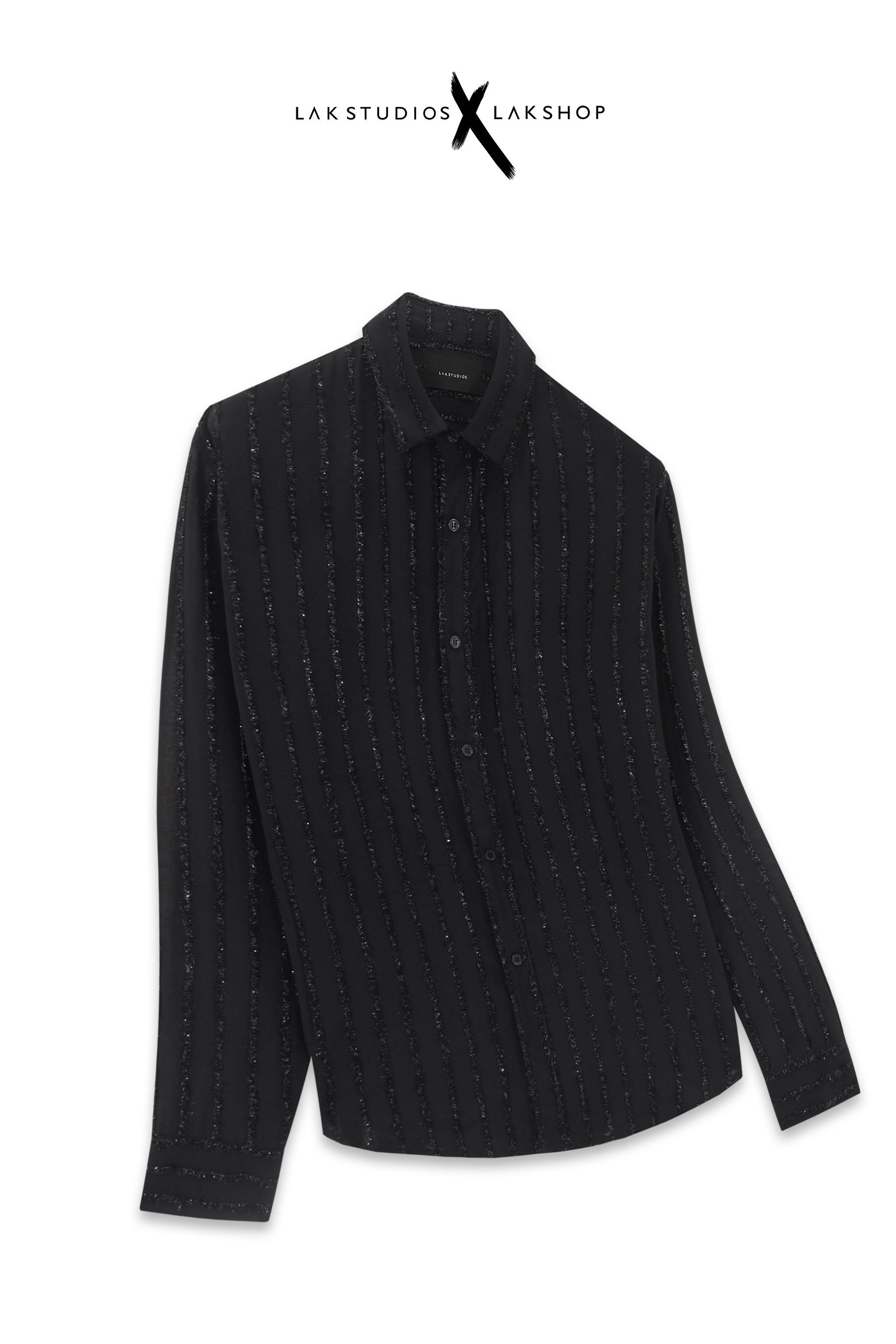 Lak Studios Bling Bling Stripe Black Shirt