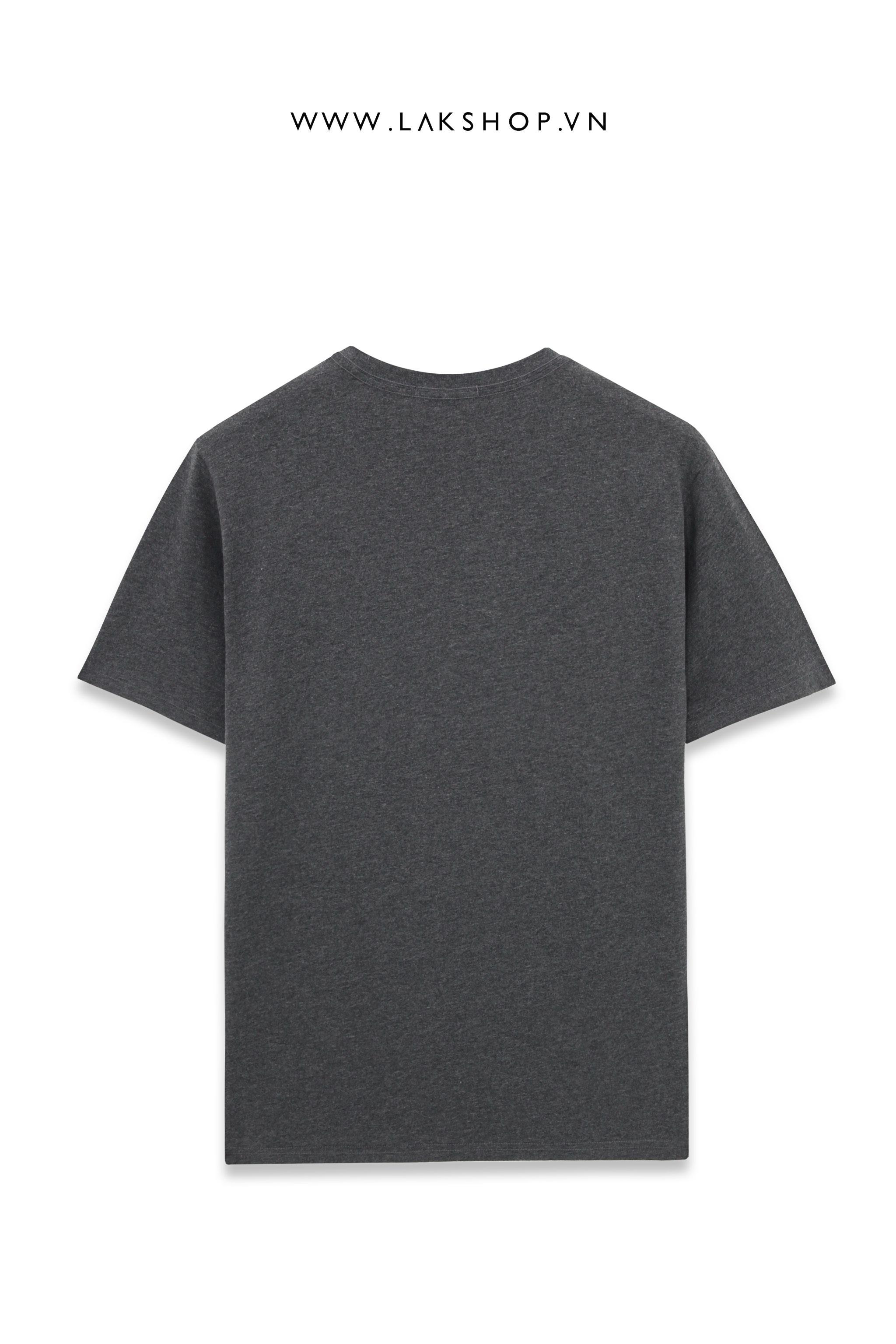 Balenciaga Black Velvet Logo Oversized Black T-shirt cv4