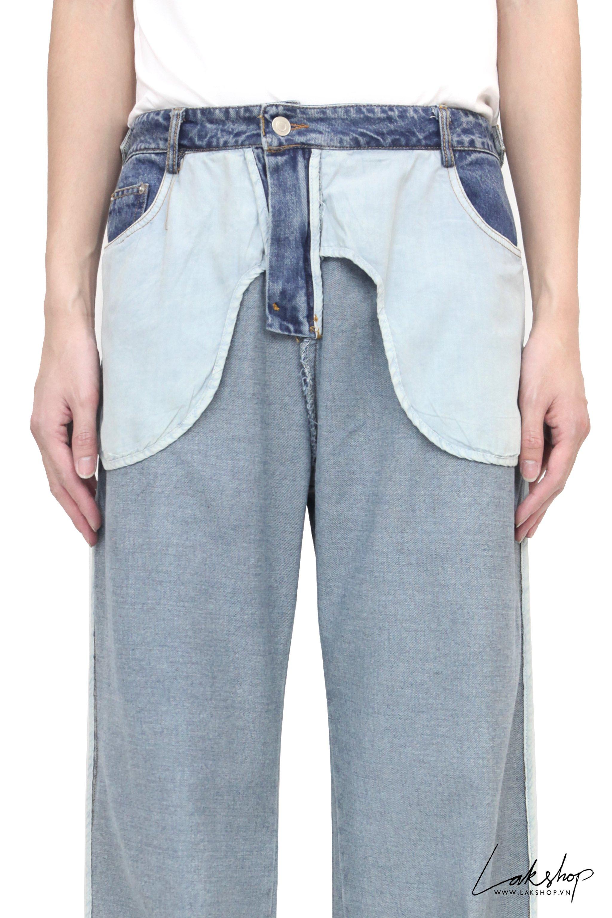 Blue Flipped Left Oversized Jean ds20