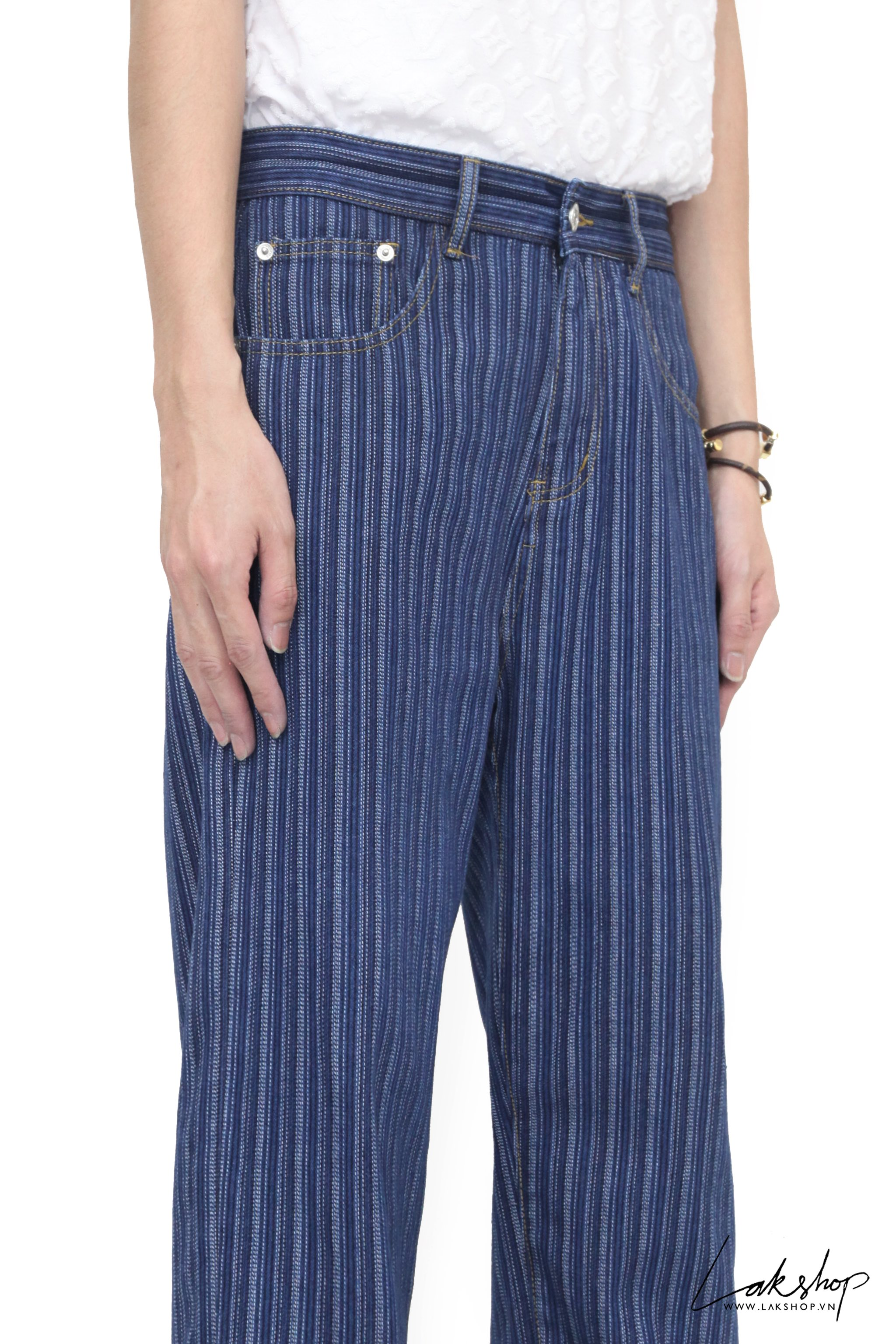 Blue Stripe Loose Relaxed Fit  Jeans