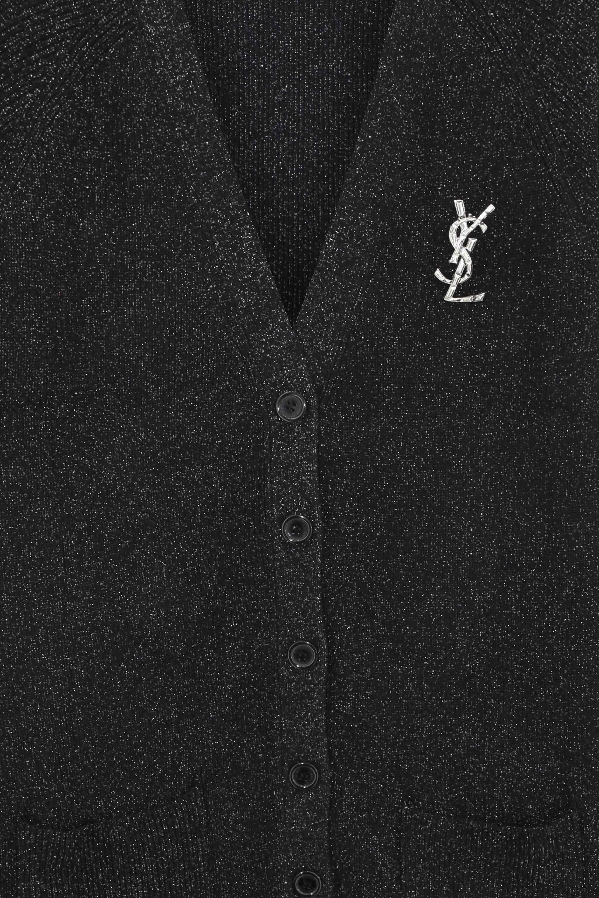 Saint Laurent Lip Smoke Print Shirt cv1