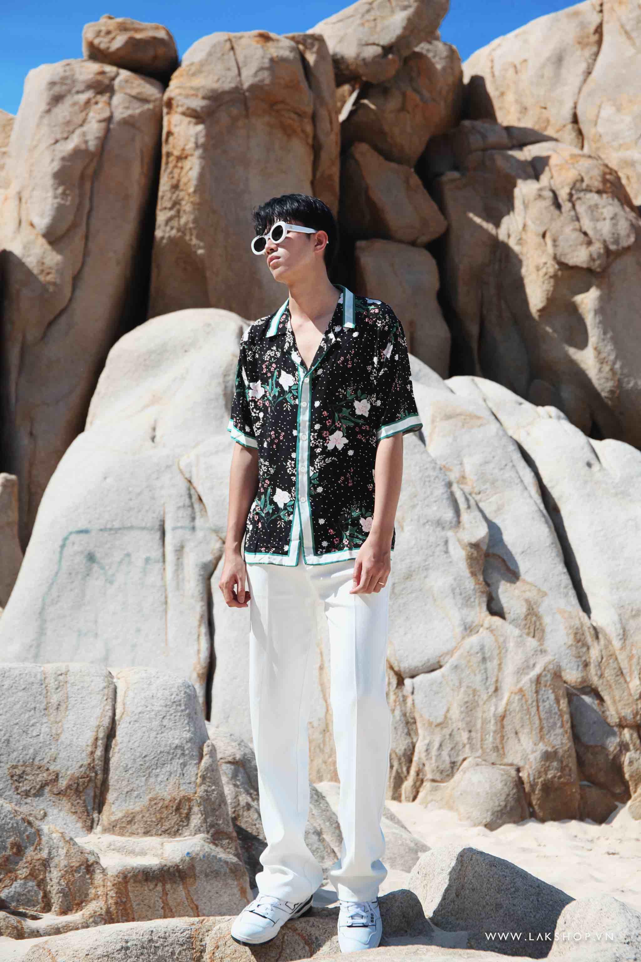 Gucci Green Flora Print Short Sleeve Shirt