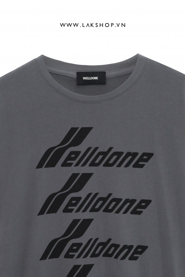 We11done Oversize Grey Oversize T-shirt  1:1
