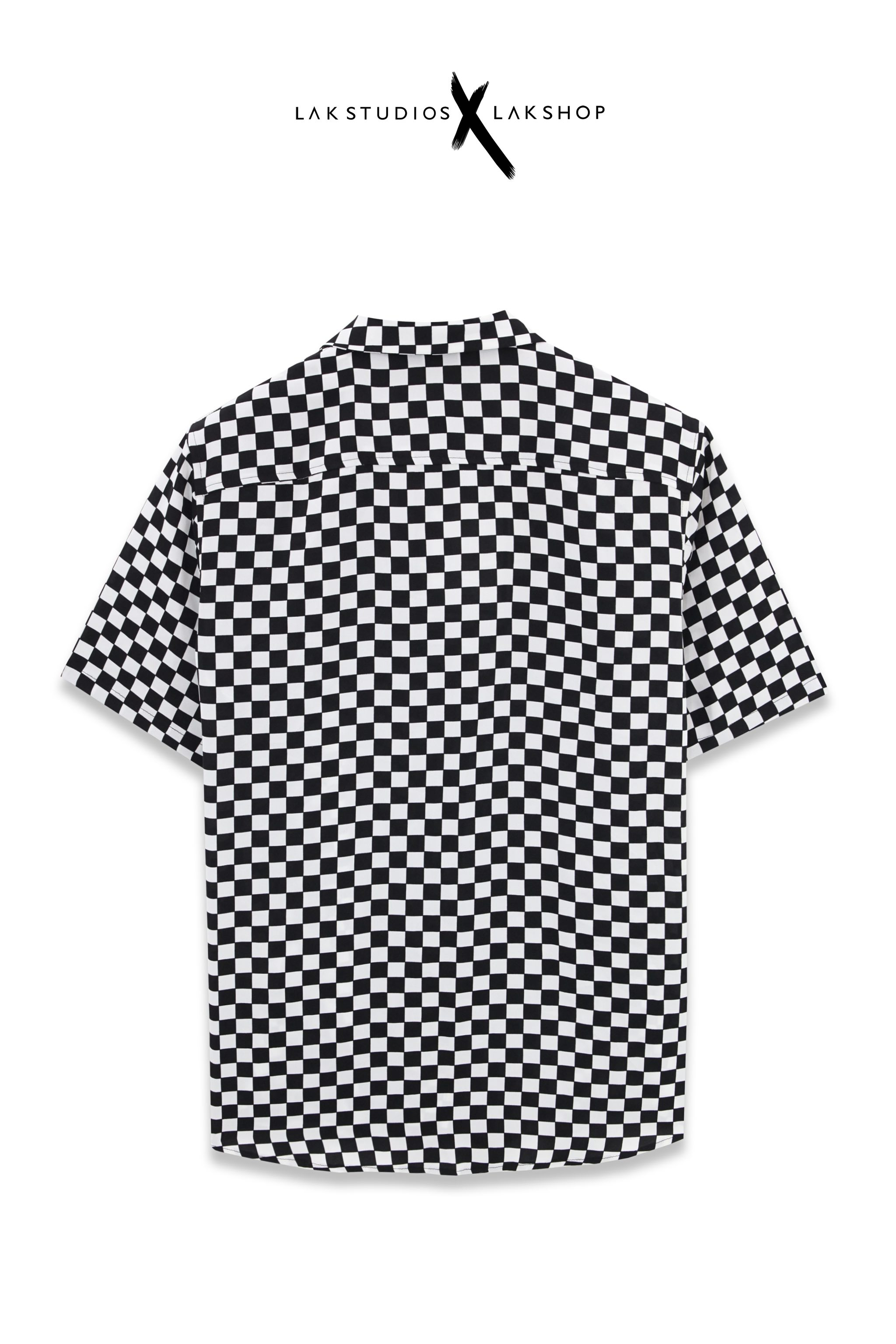 Lak Studios Grey Smoke Tweed Short Sleeve Shirt