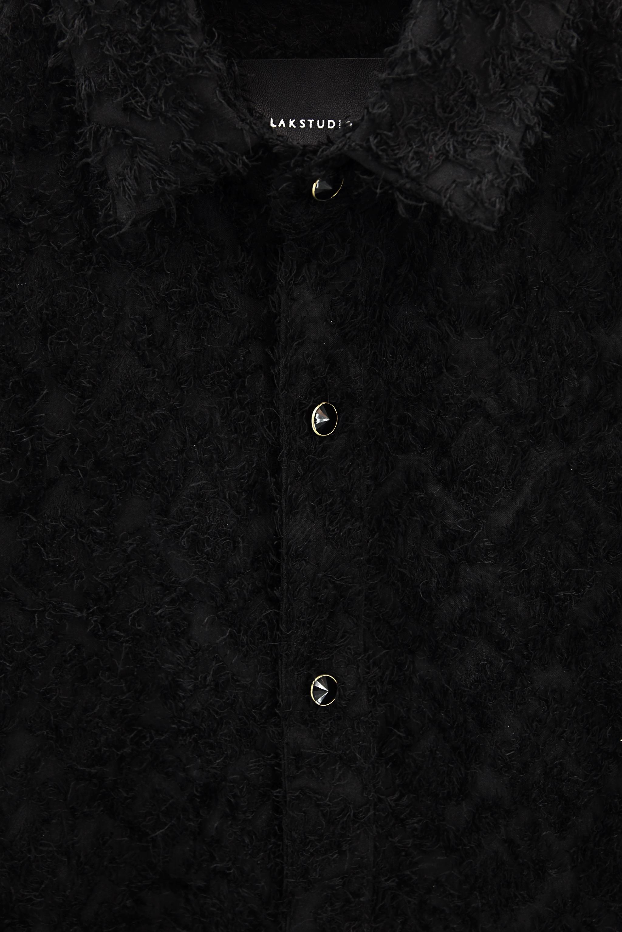 Lak Studios Loose Bowling Shirt in Black