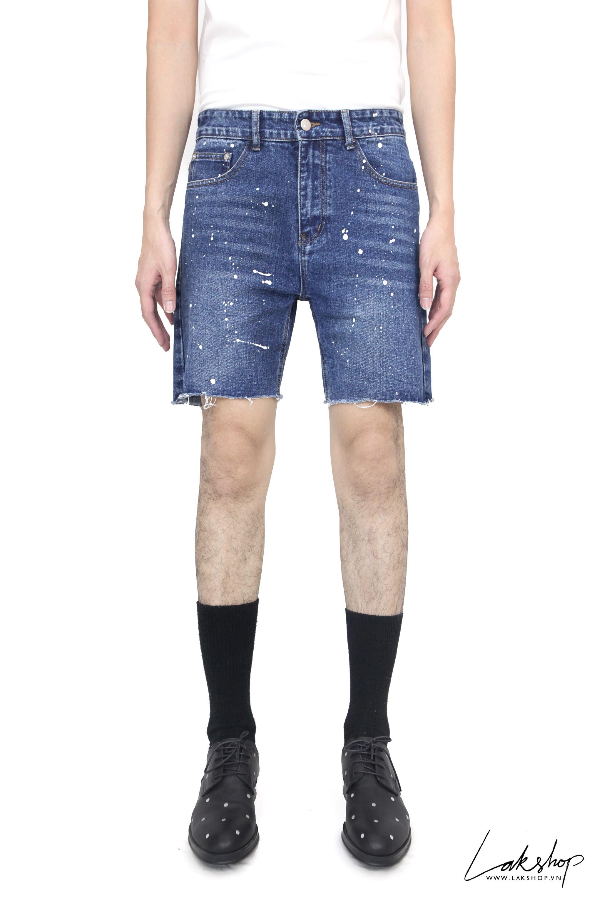Blue Croped Short Jeans