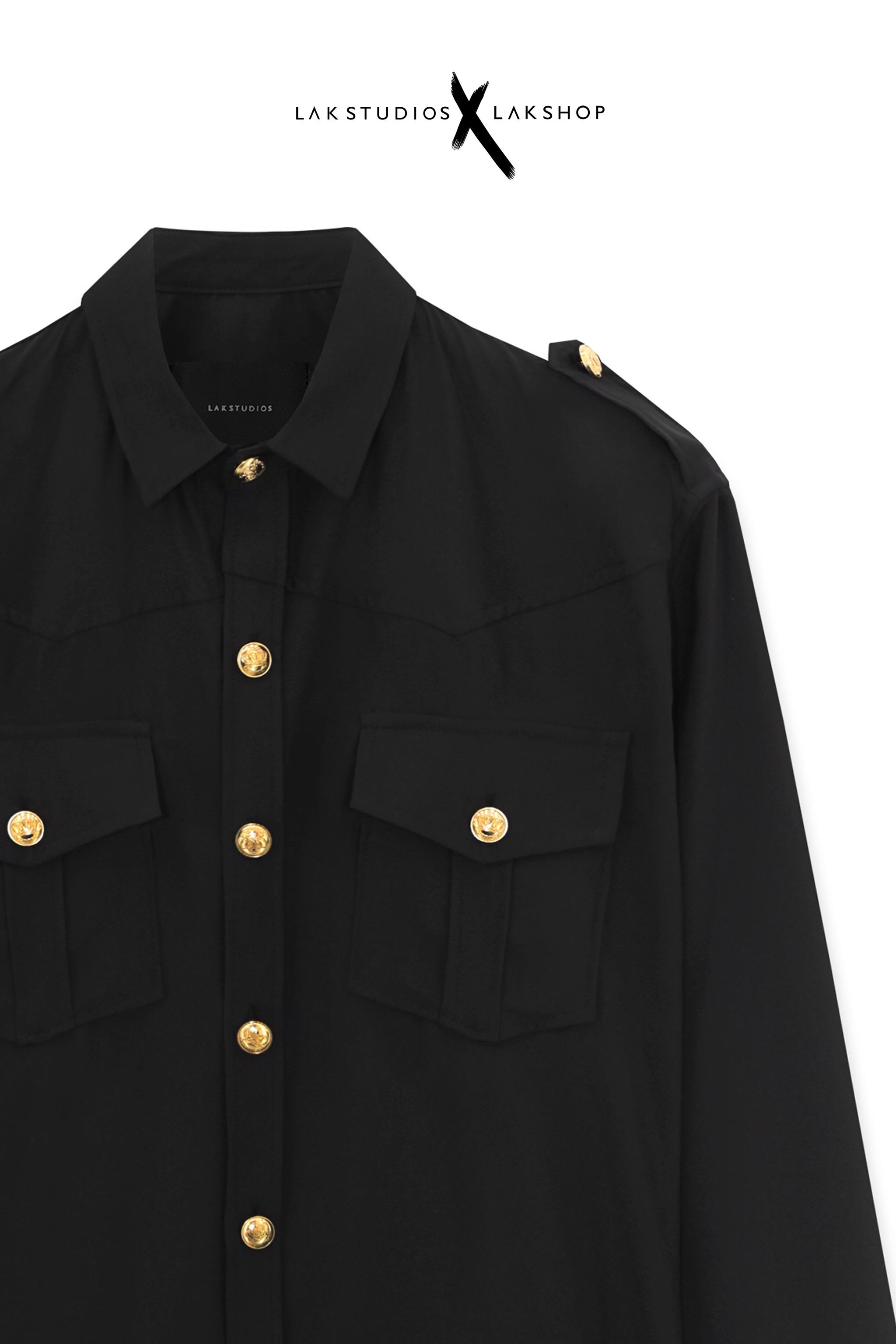 Lak Studios Leopard Black Silk Shirt cv1