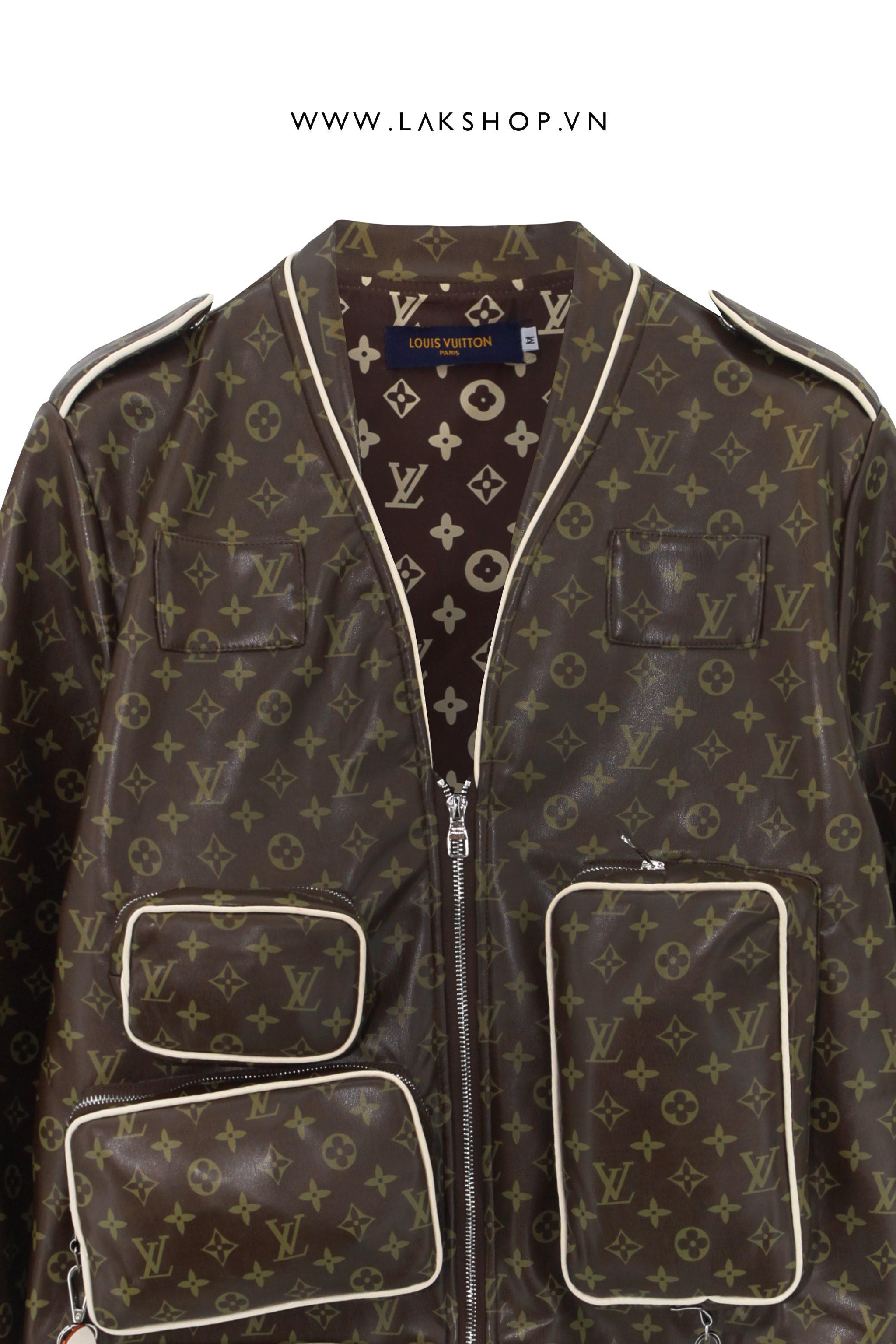 Áo Louis Vuitton Brown Monogram Admiral Jacket