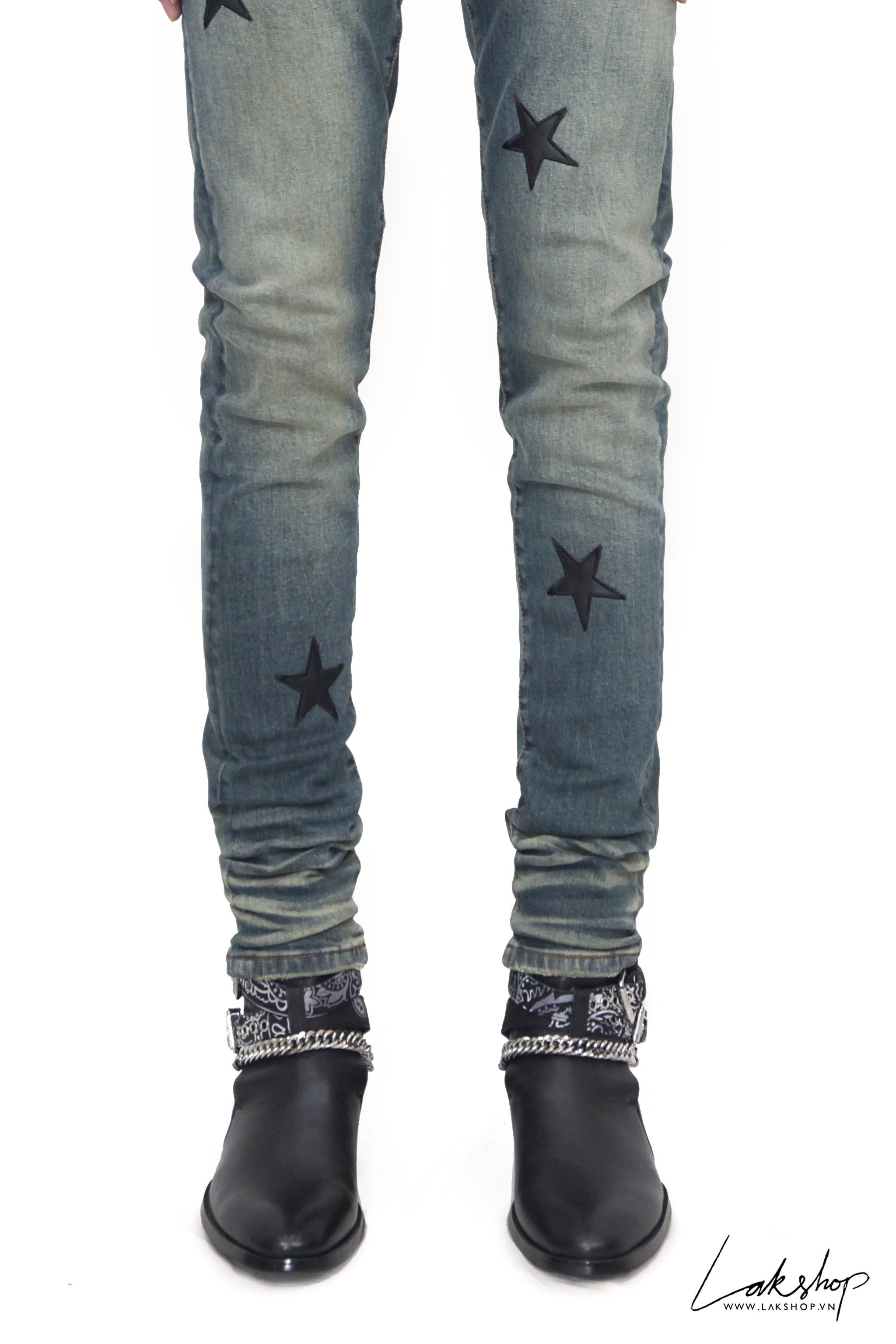 Amiri Thrasher Skinny-Fit Distressed Stretch-Jean