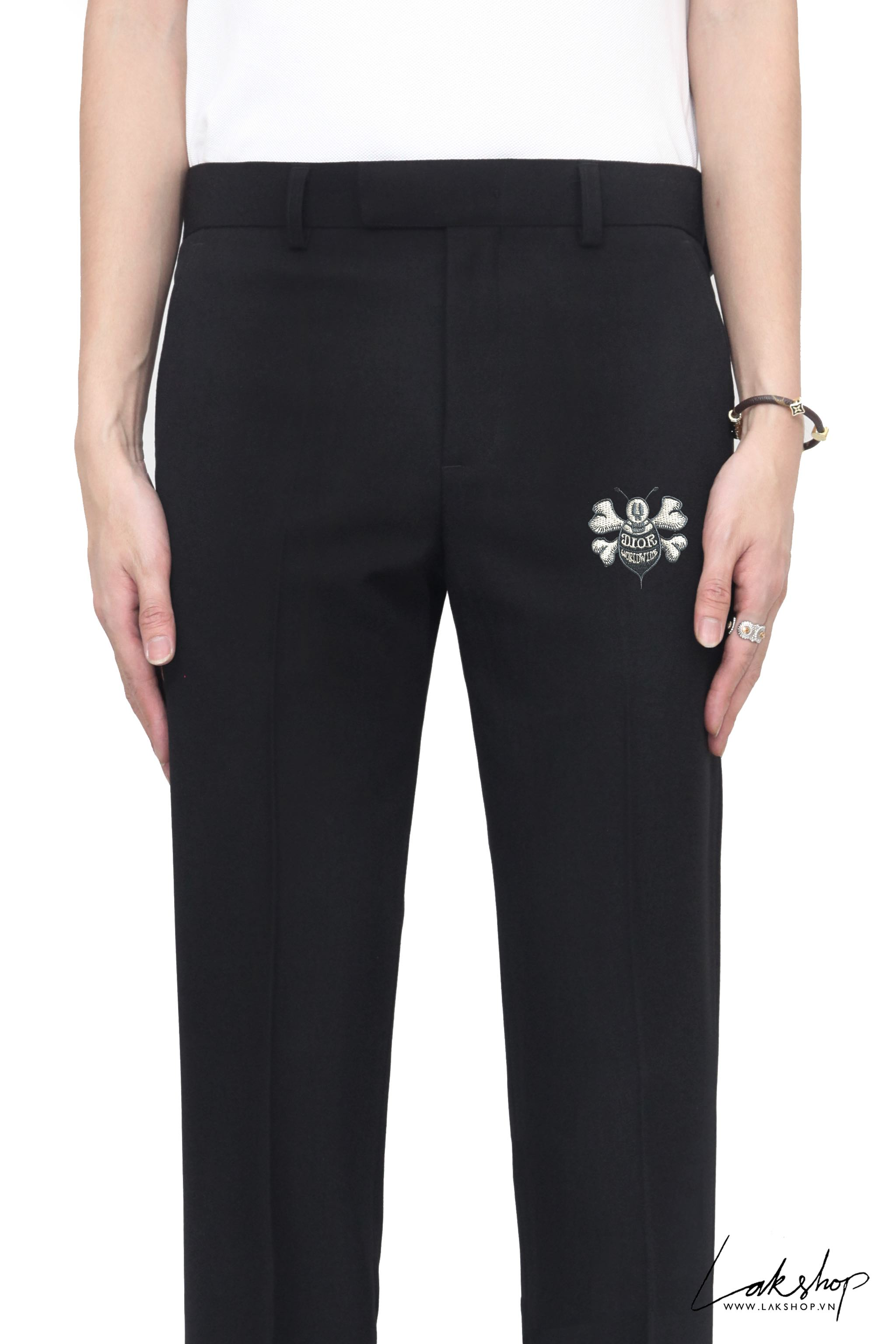 Dior x Stussy Bee Logo Black Trousers