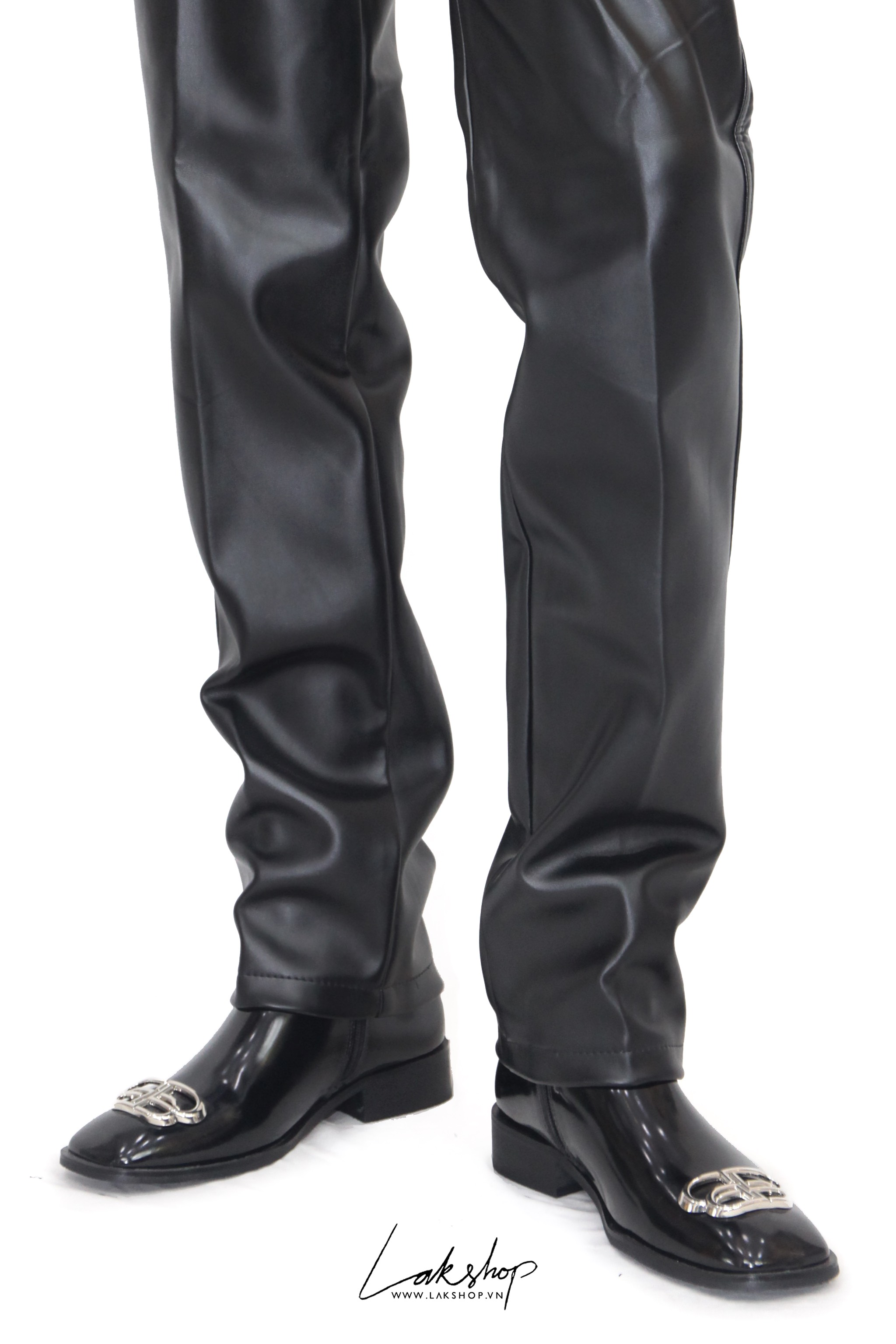 Faux Leather Loose Pant