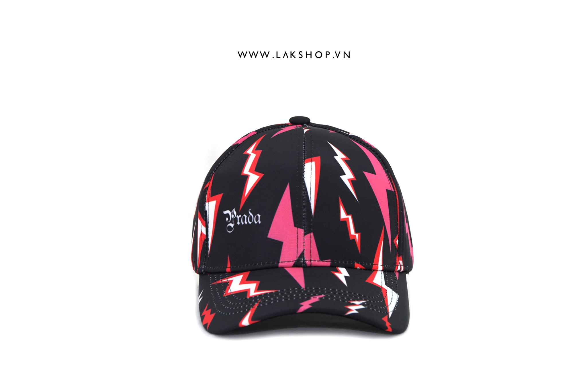 Prada Lighting Print Cap