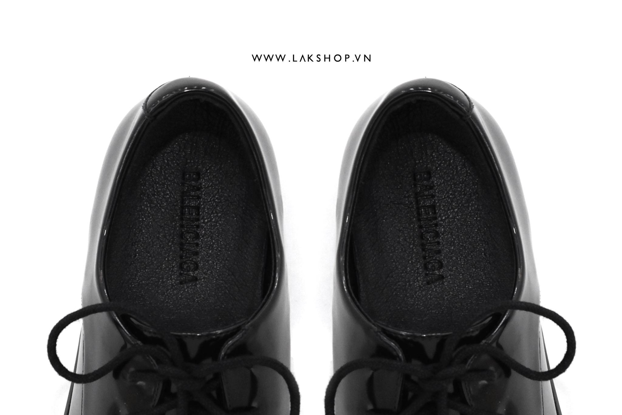 Balenciaga Rim BB-Logo Square-toe Leather Derby Shoes