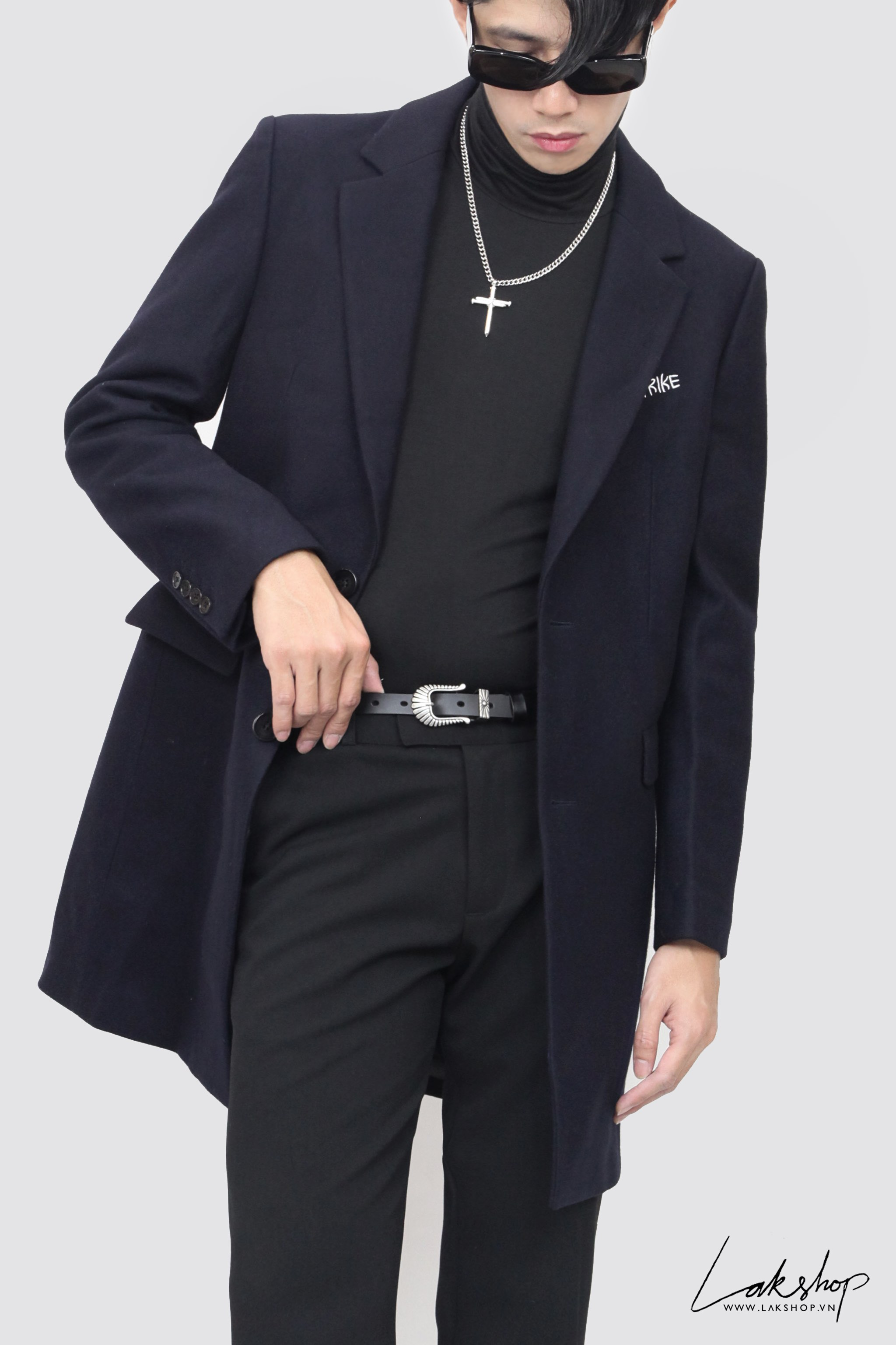 Be Freedom DarkBlue Trench Coat