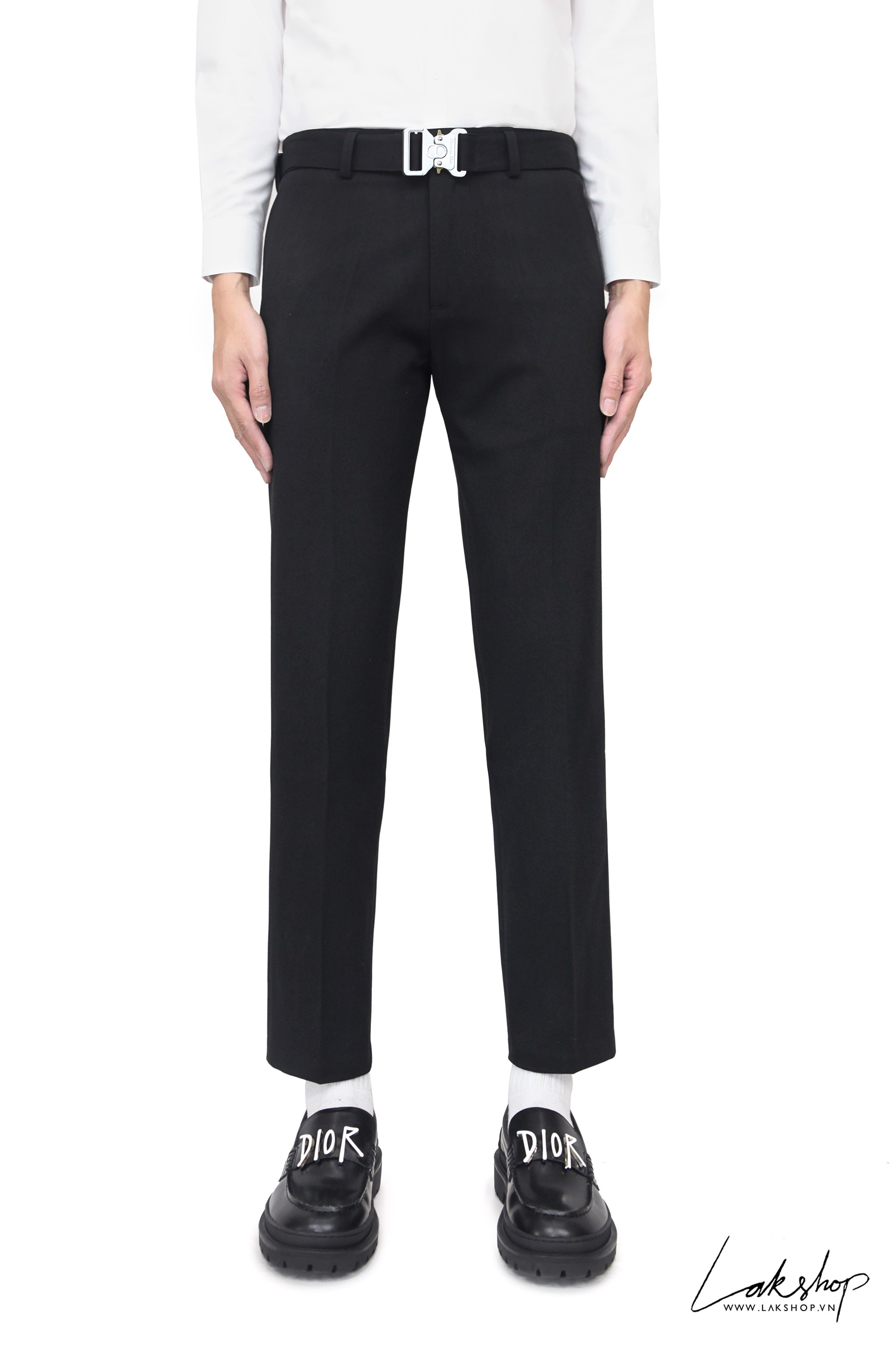 Dior Pants With Removable Harness Buckle Belt cv1