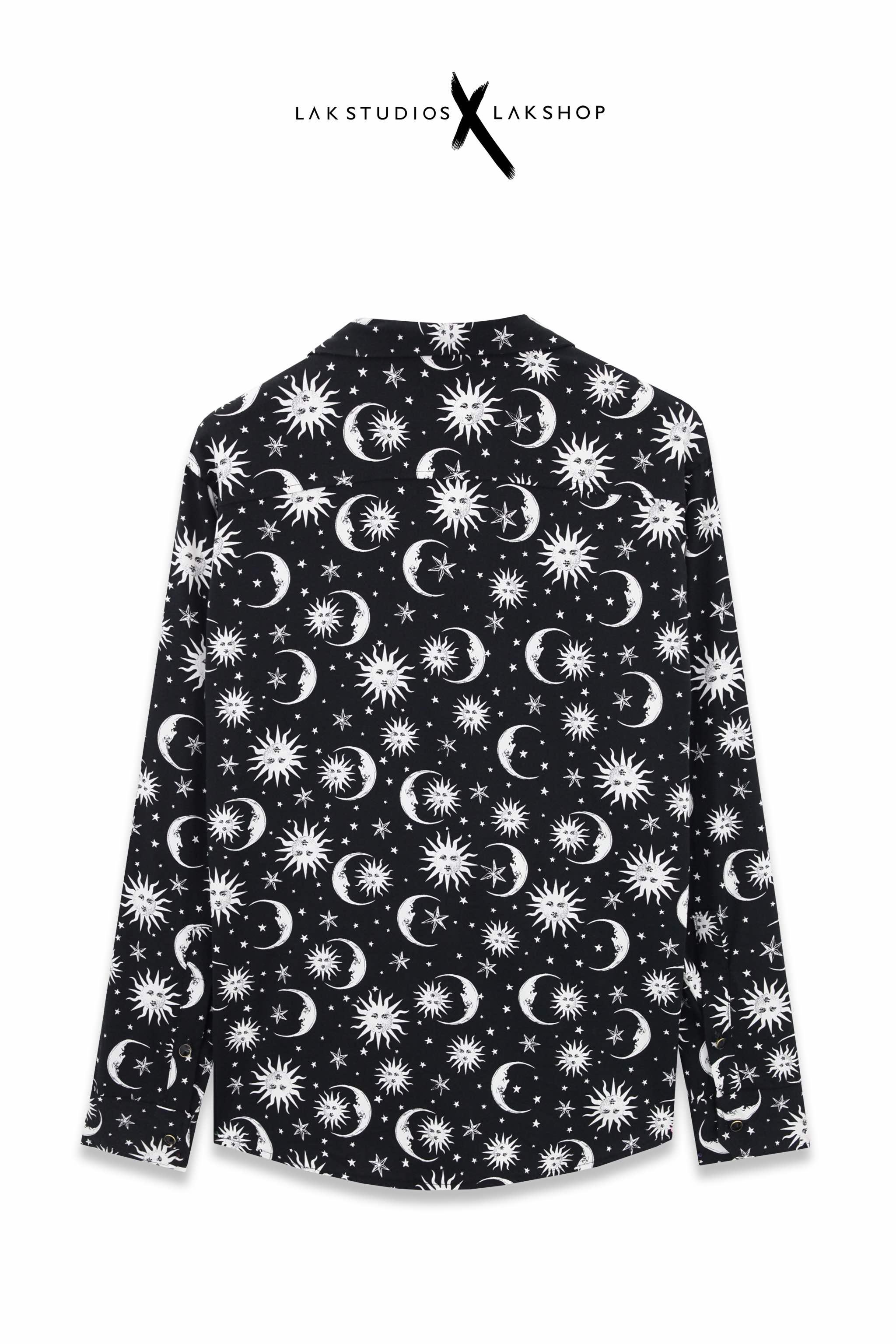 Oversized Graffiti Pocket Double Mesh Shirt ( vải lưới 5 lớp )