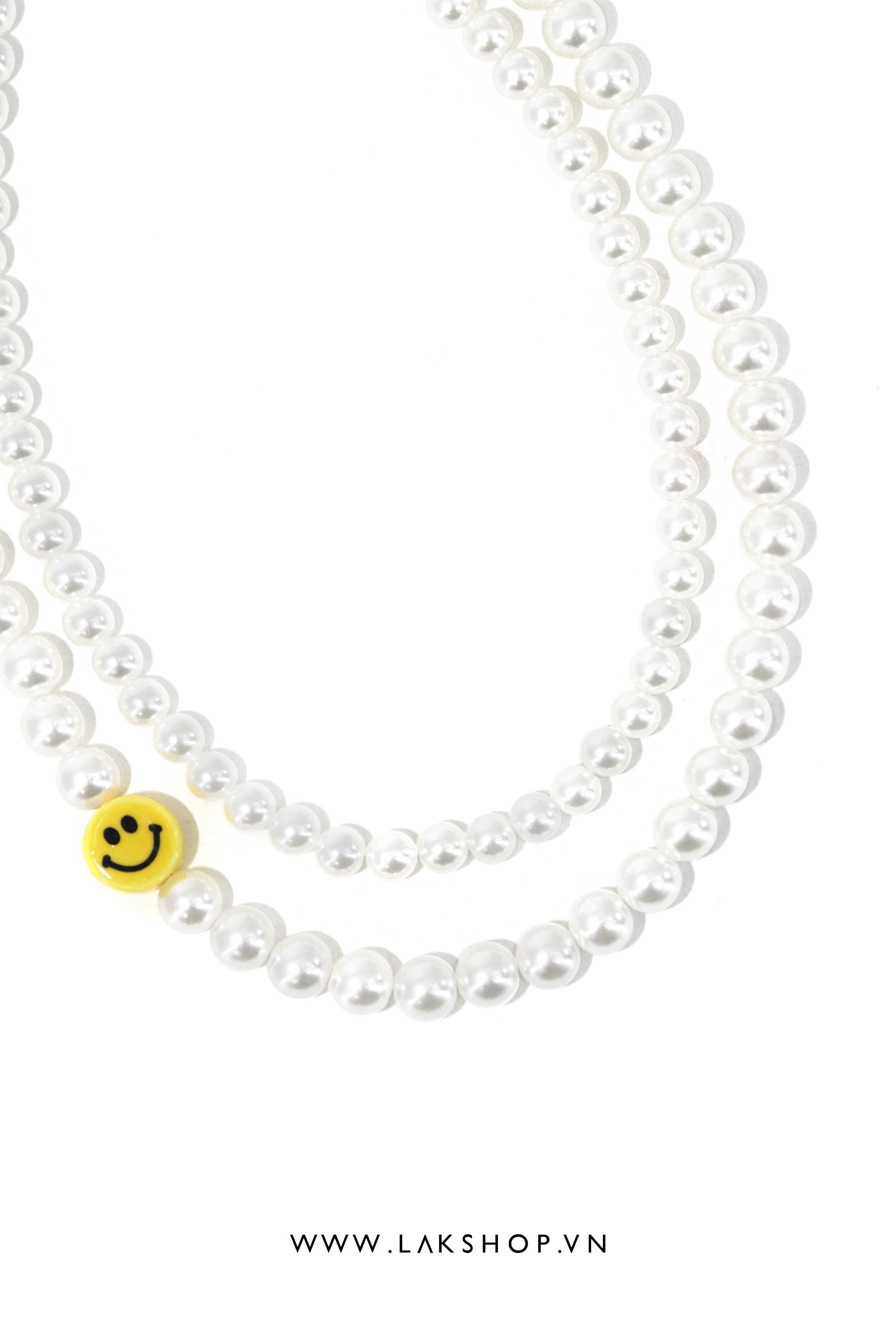 Vòng Cổ 2 Dây Pearl Emoji Necklace