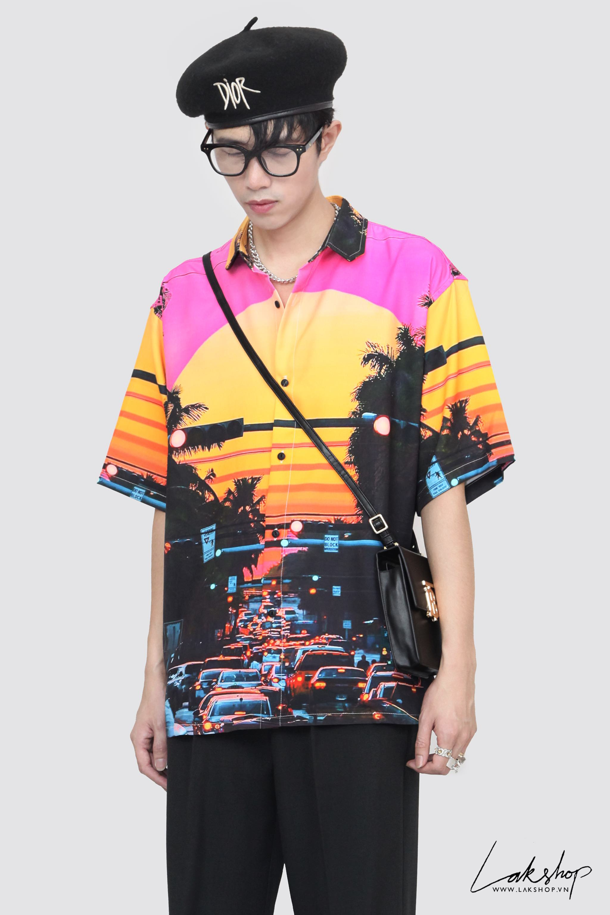 Hawaiian Street Short Sleeve Shirt