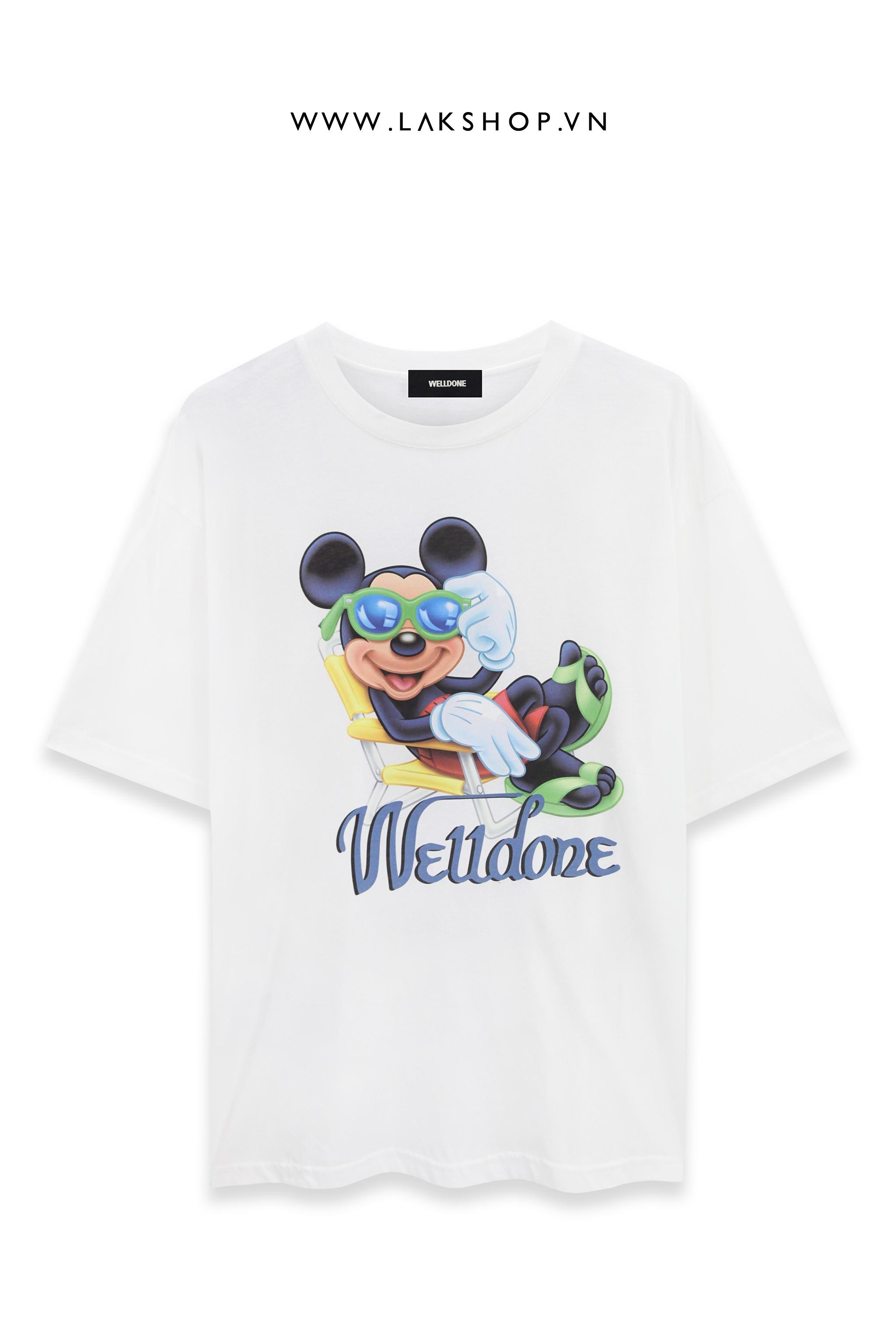Welldone x Mickey White Oversized T-Shirt (bản đẹp 1:1)
