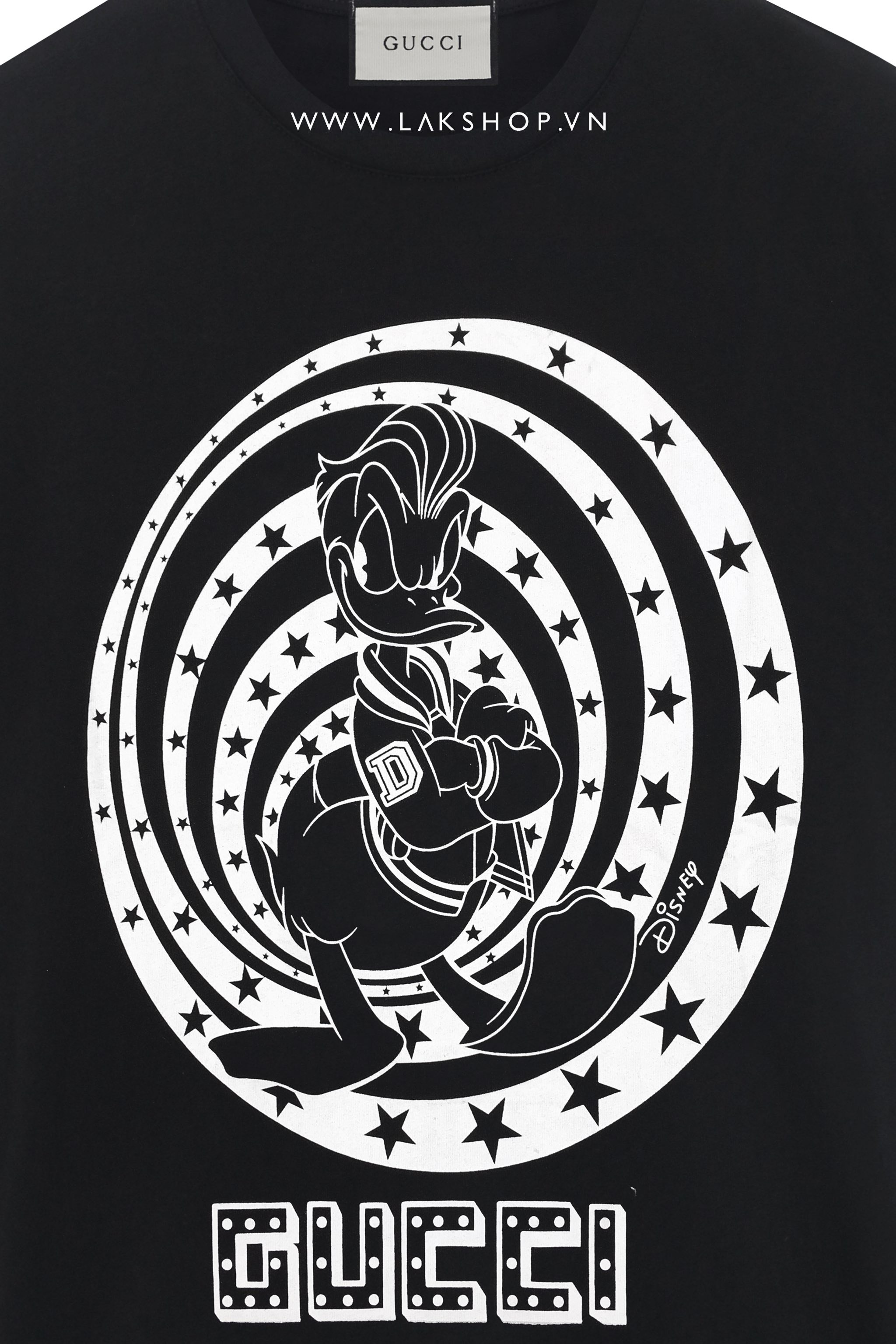 Gucci x Donal Duck Star Logo Black T-shirt