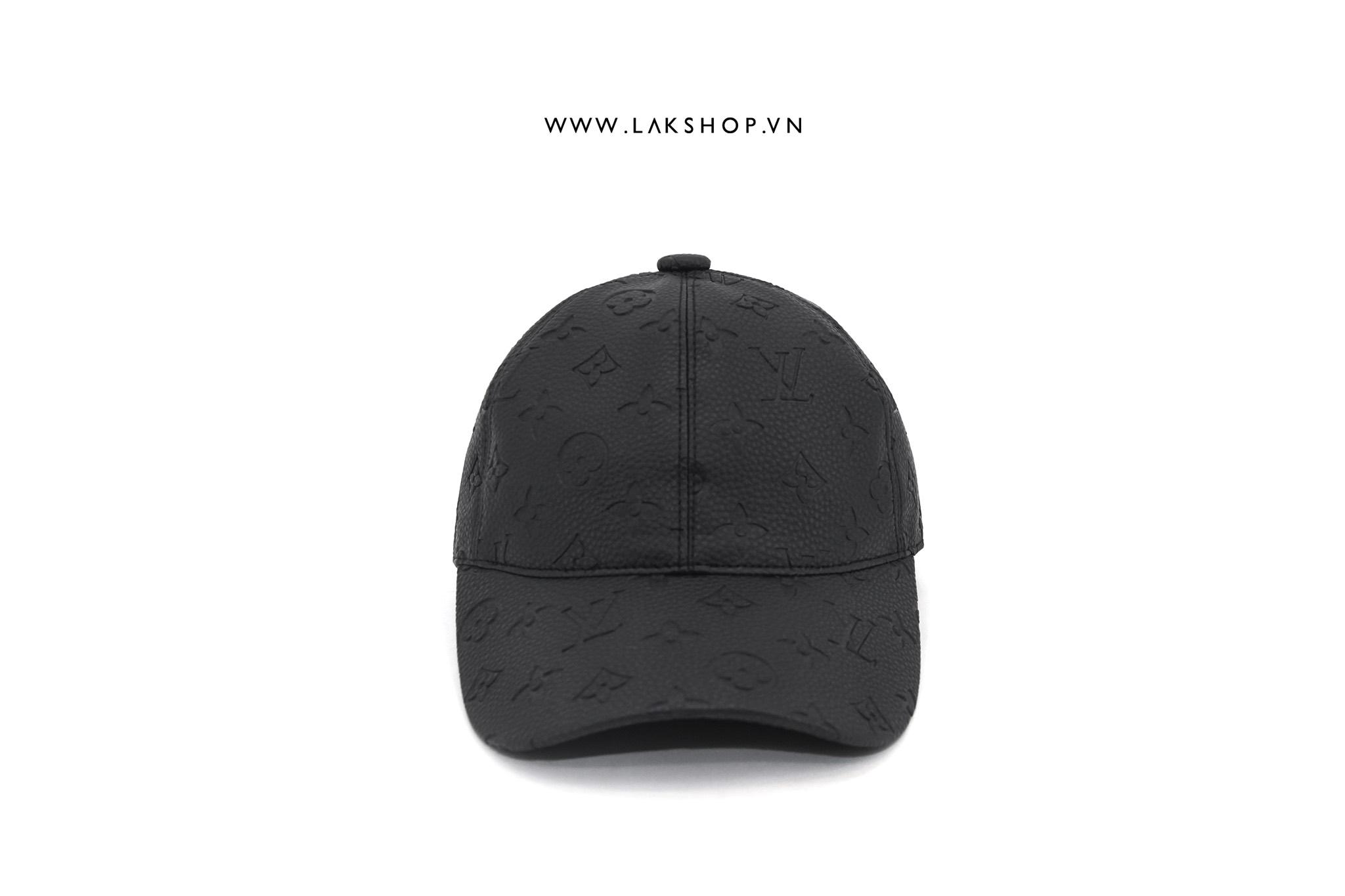 Louis Vuitton Monogram Black Leather Baseball Cap