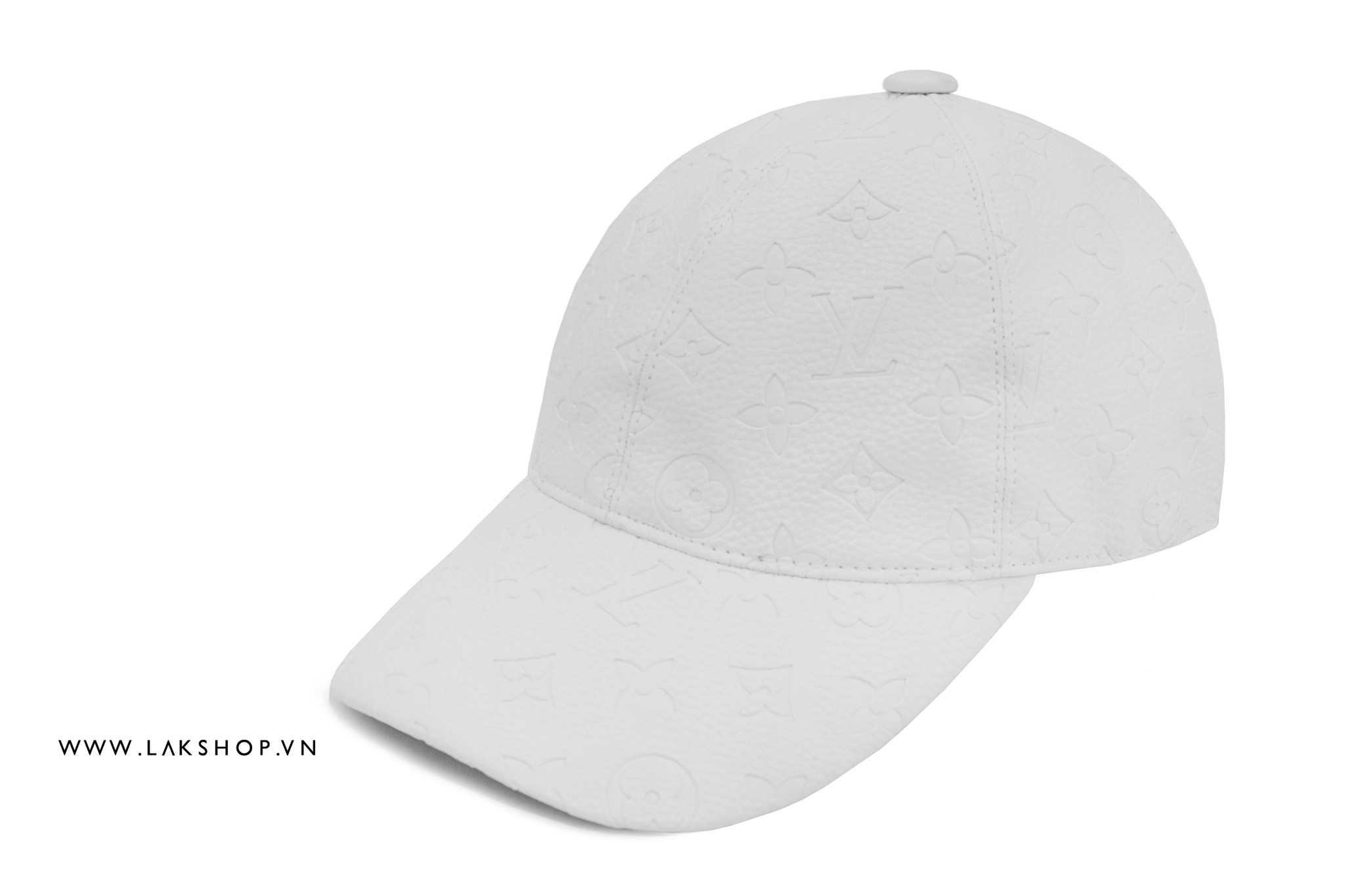 Louis Vuitton Monogram White Leather Baseball Cap