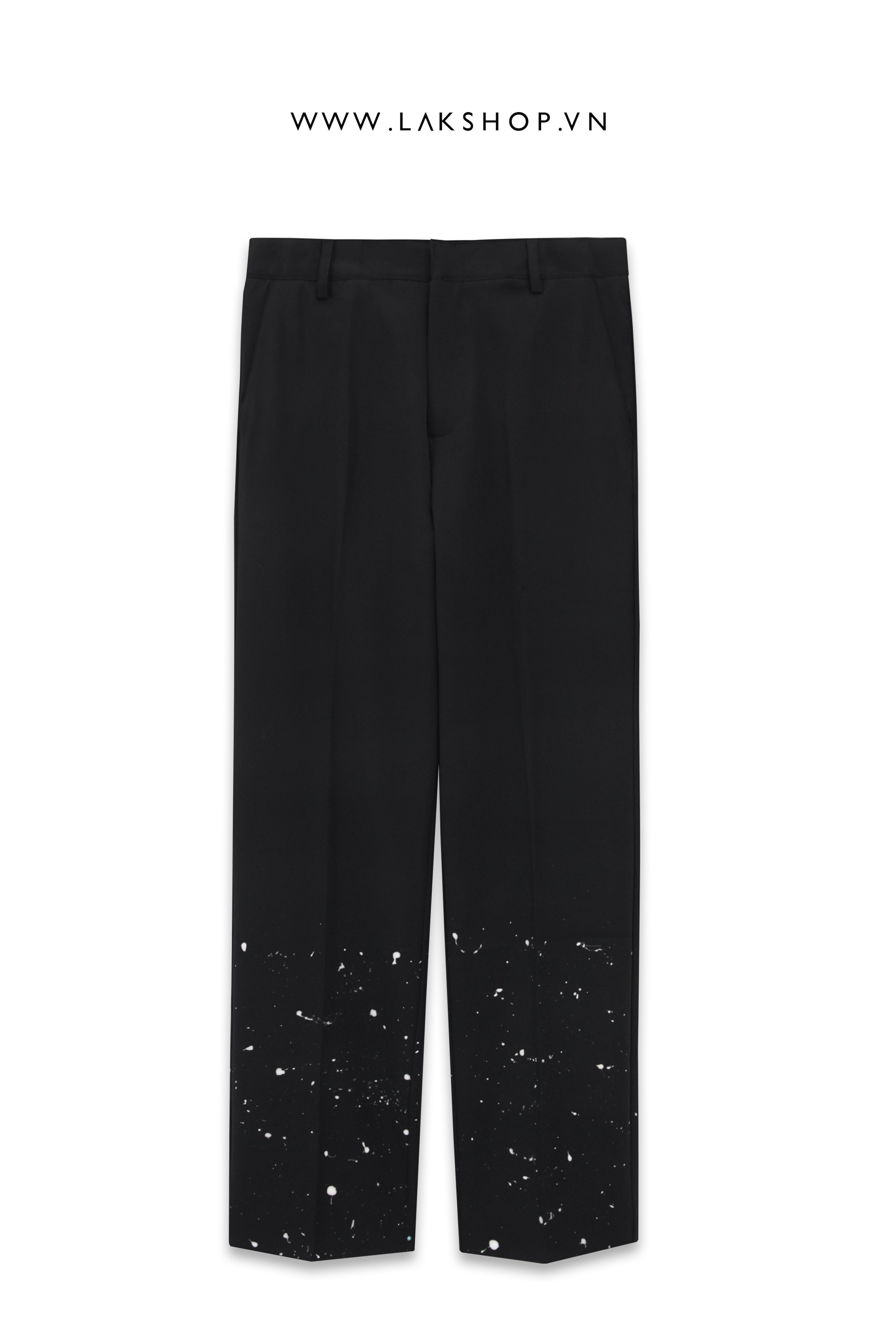 Black Loose With Paint Pant