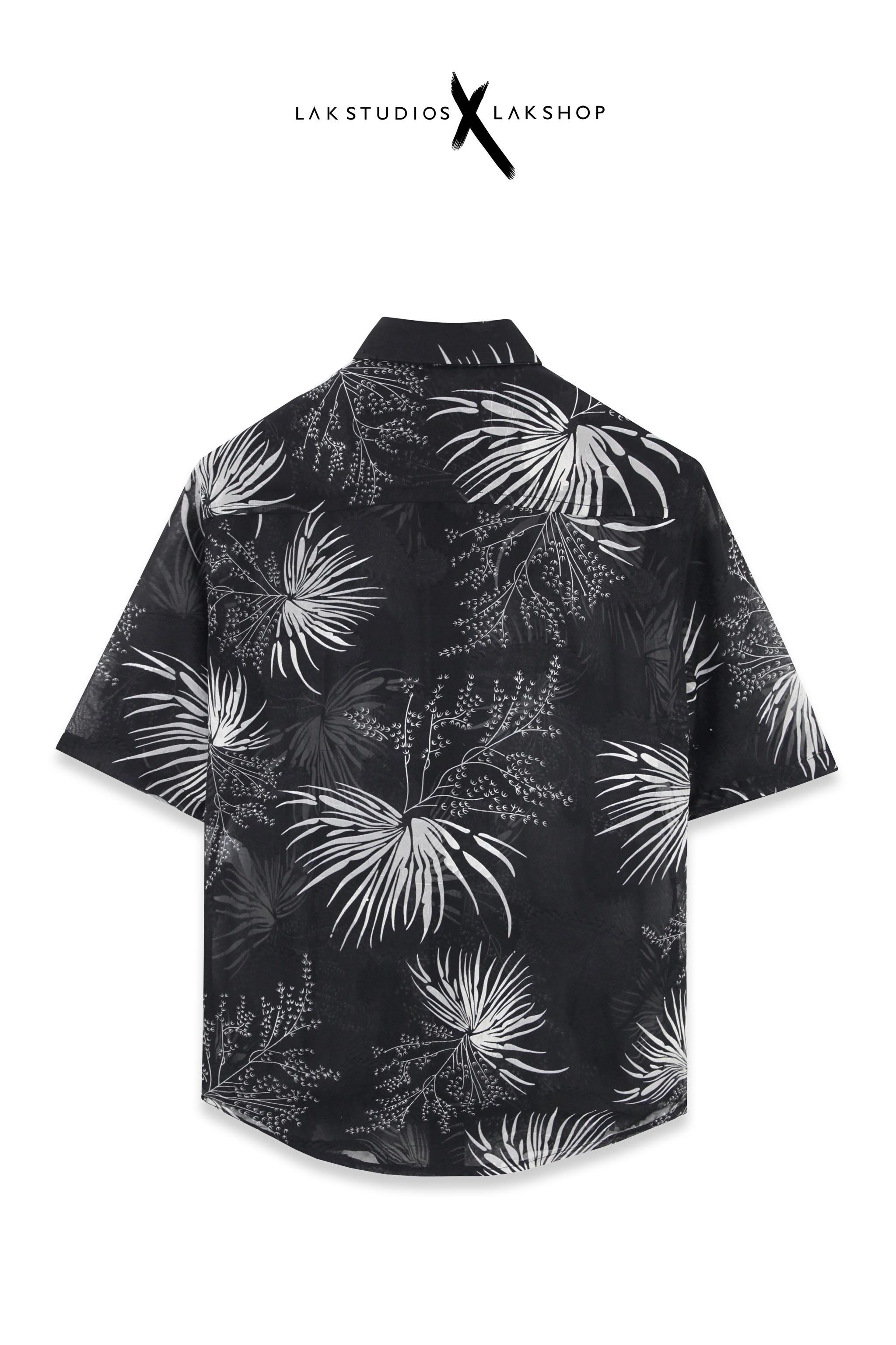 Lak Studios Black Tweed Check Shirt