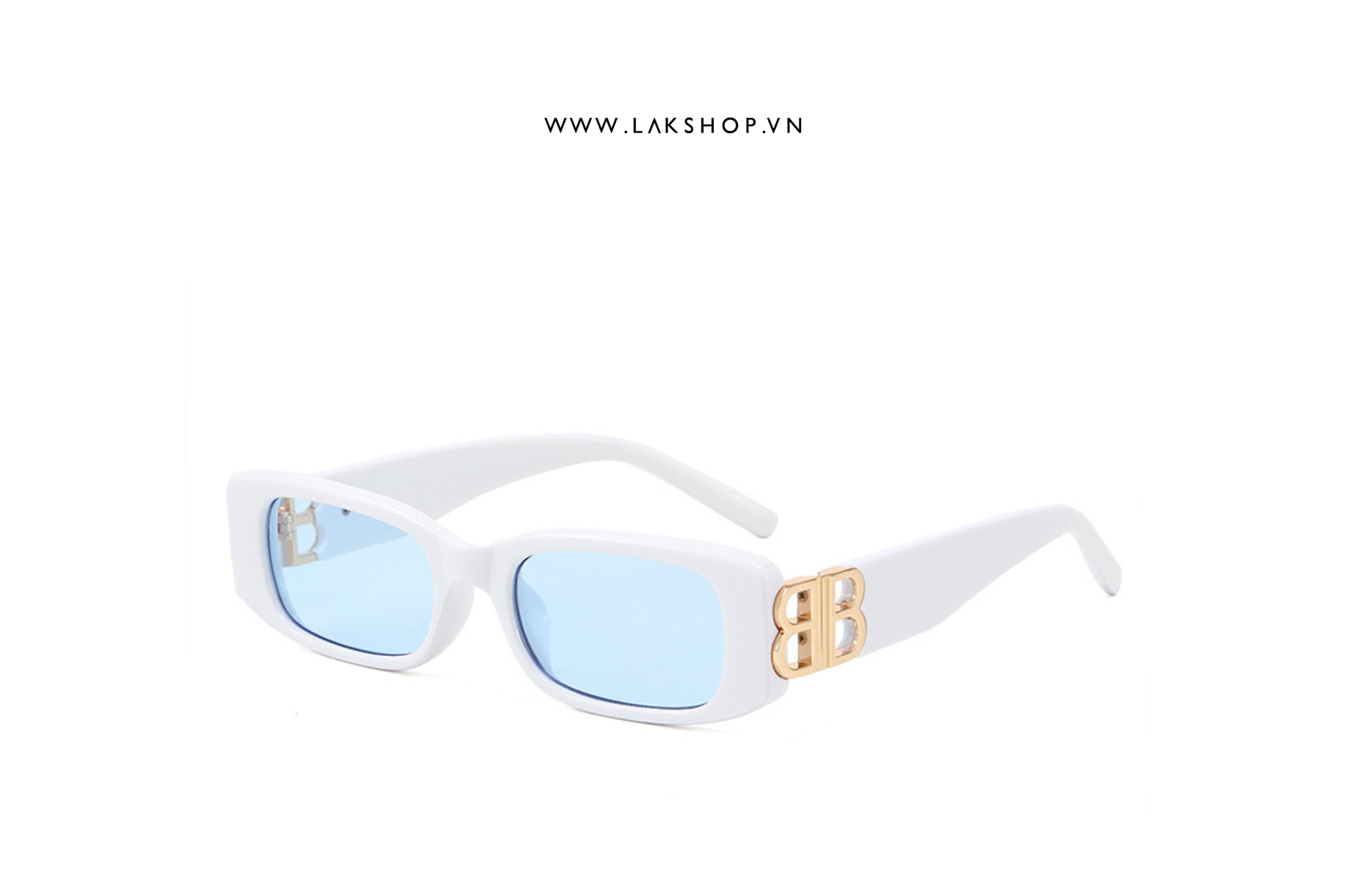 balenciaga Dynasty Square-Frame Acetate Sunglasses in white