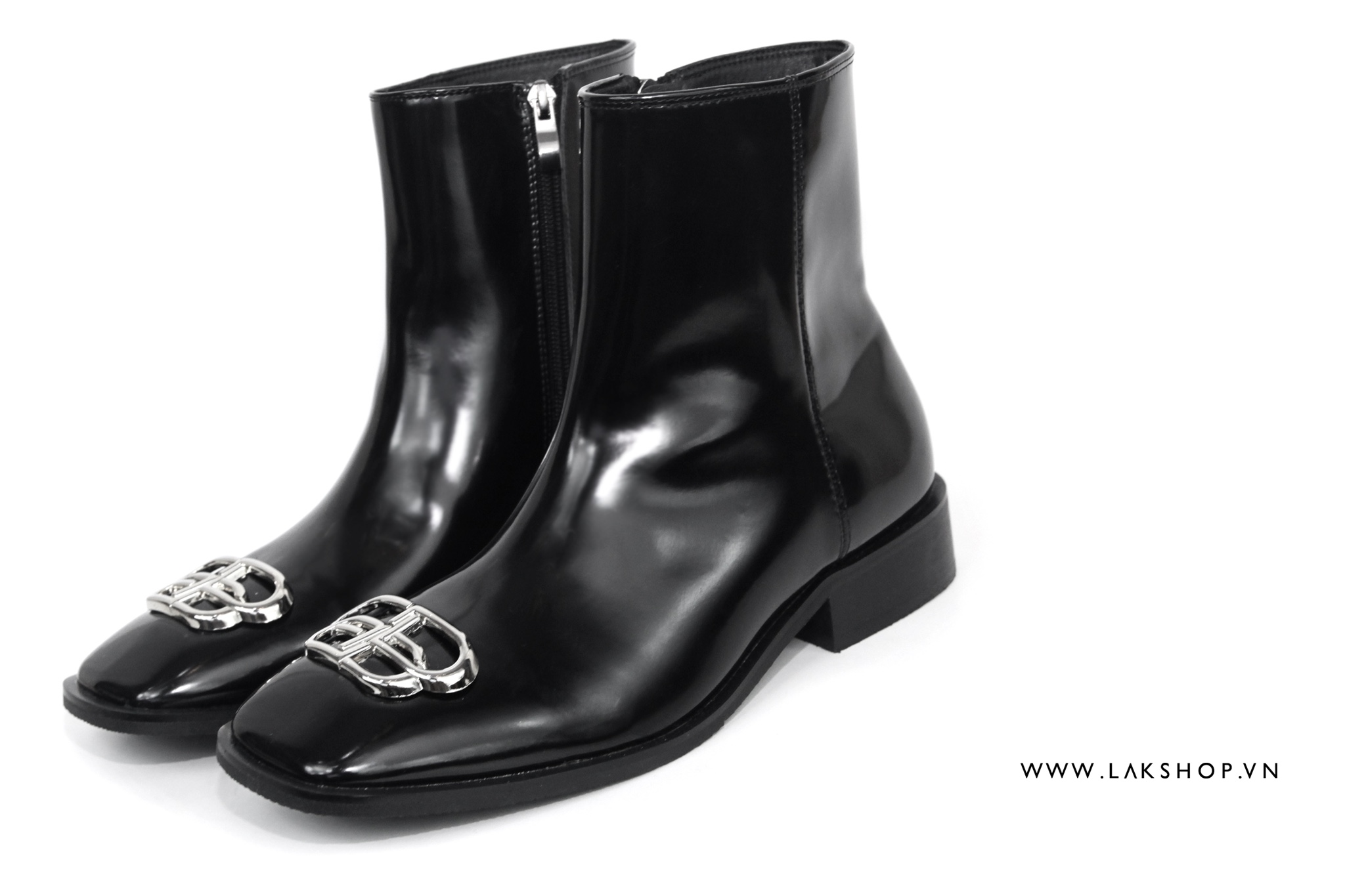 Rim BB-Logo Zip Leather Boots