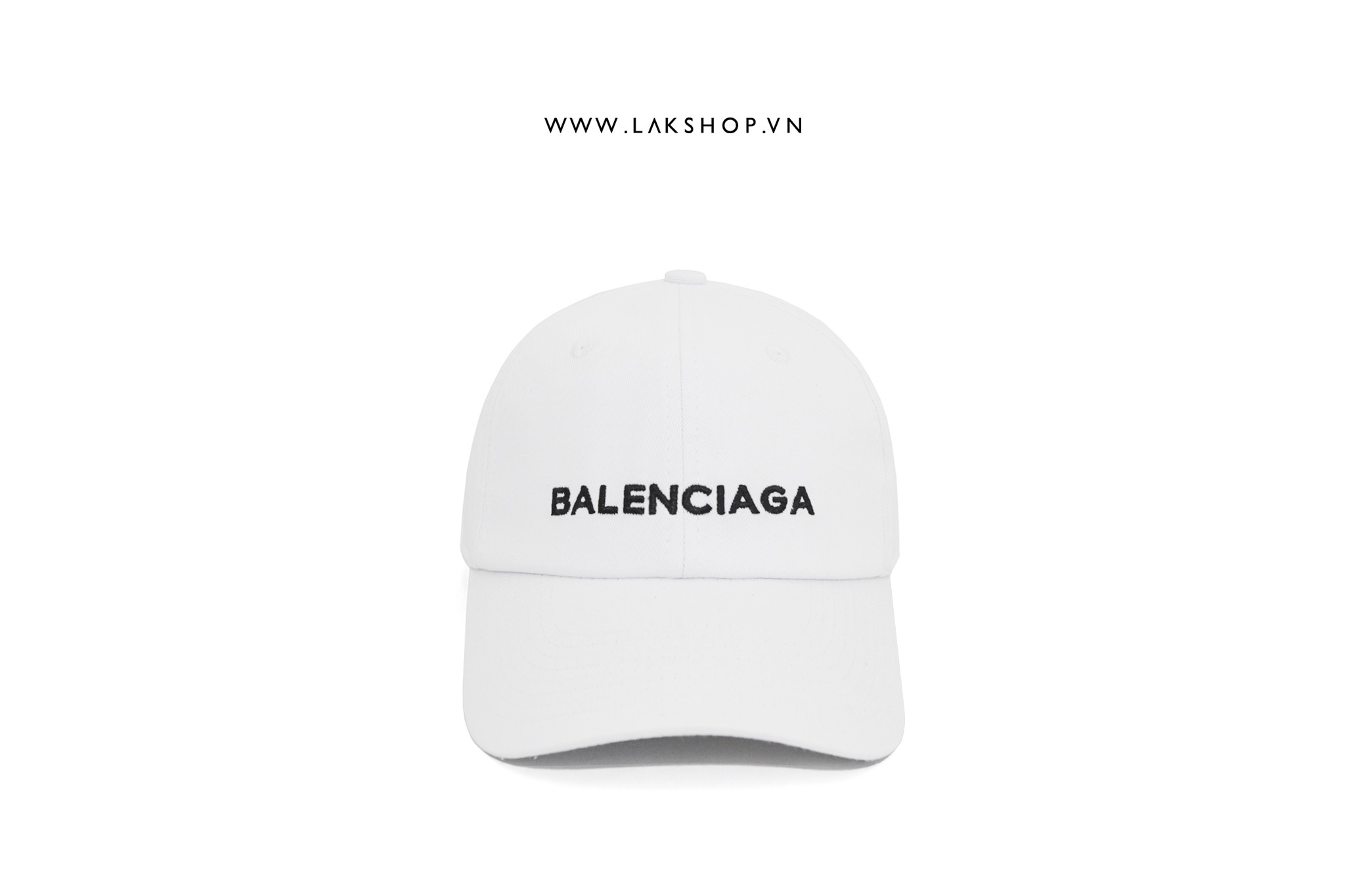 Balenciaga Embroidered Logo White Baseball Cap
