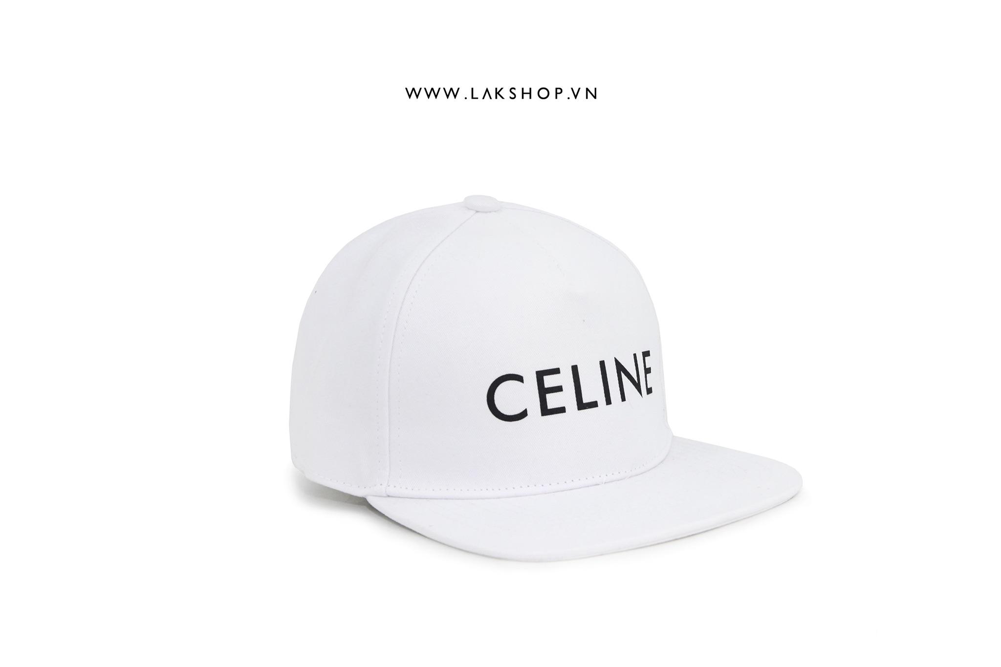 Celine Snapback Cotton White Cap