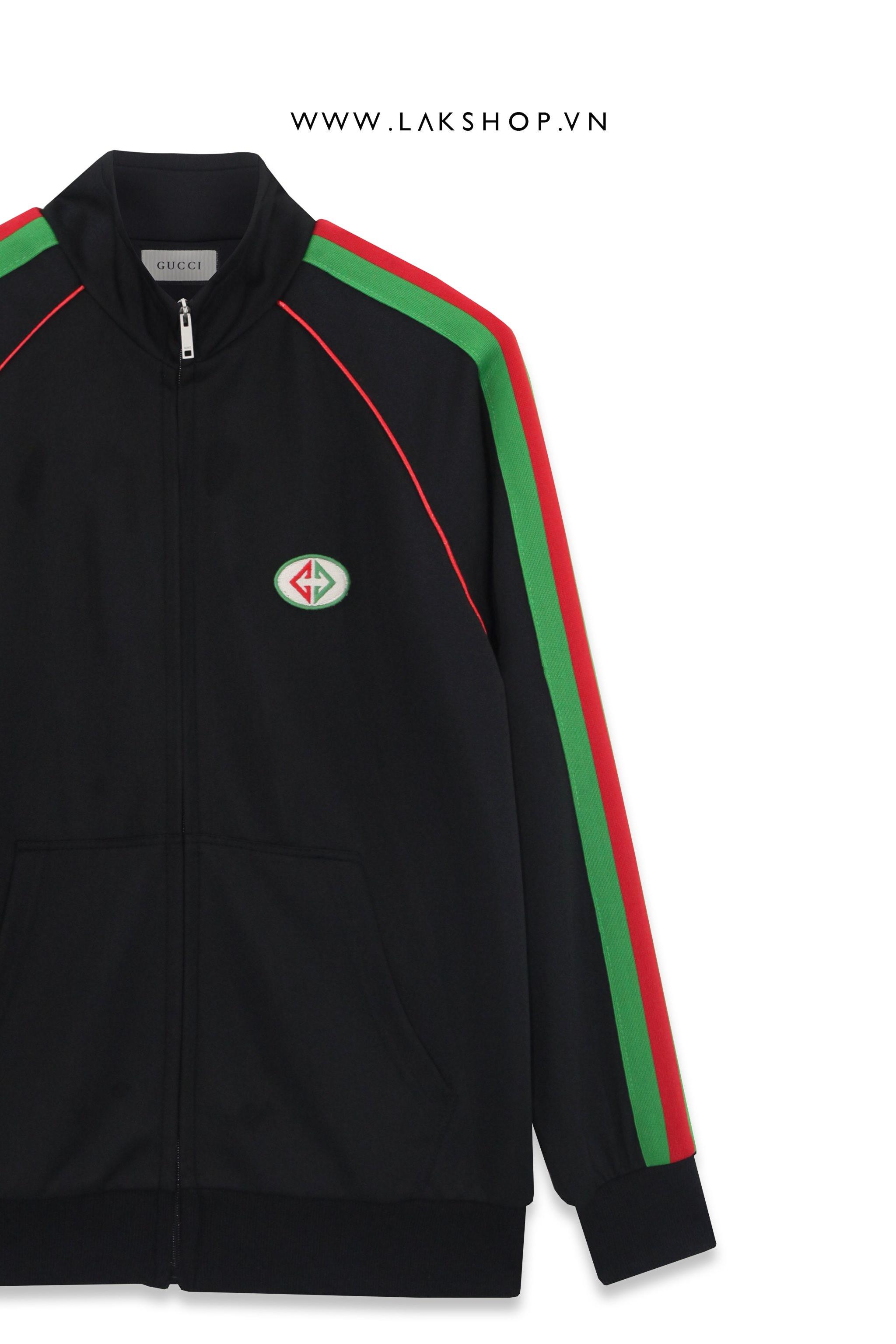 Gucci Black/Green Logo Track Jacket