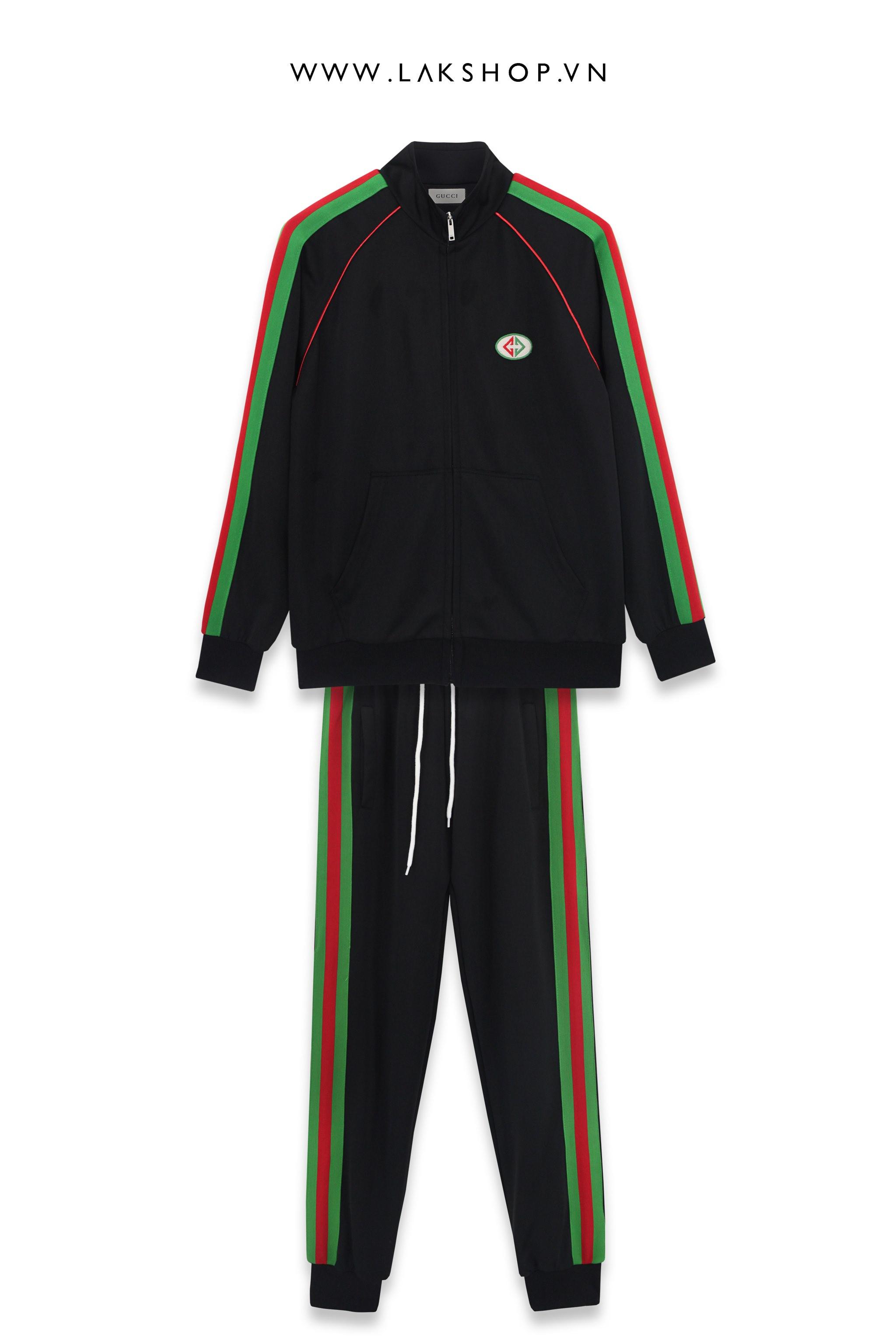 Gucci Black/Green Logo Track Pant  cv2