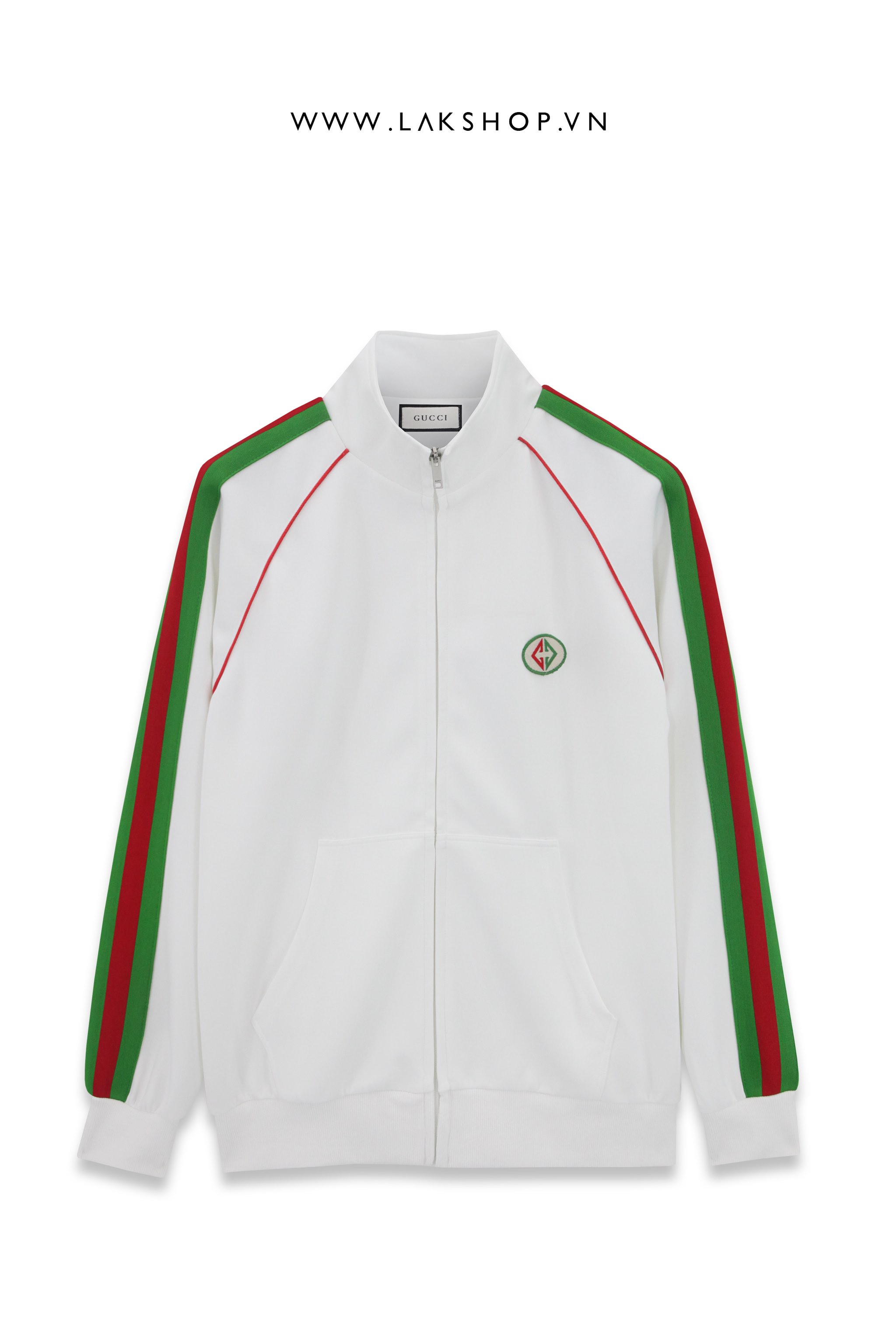 Gucci White/Green Logo Track Jacket