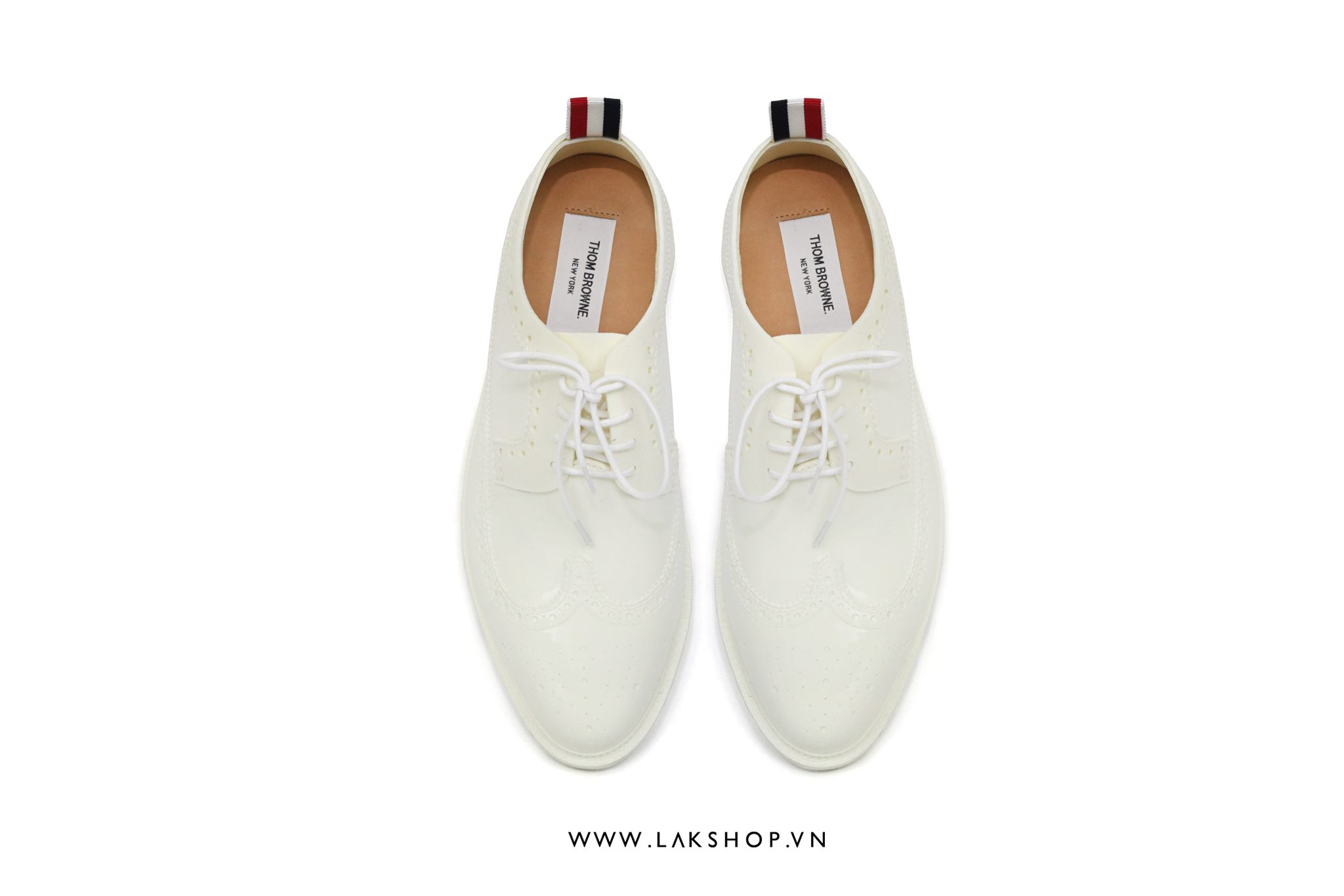 Thom Browne Cream White Rubber Classic Longwing Brogues