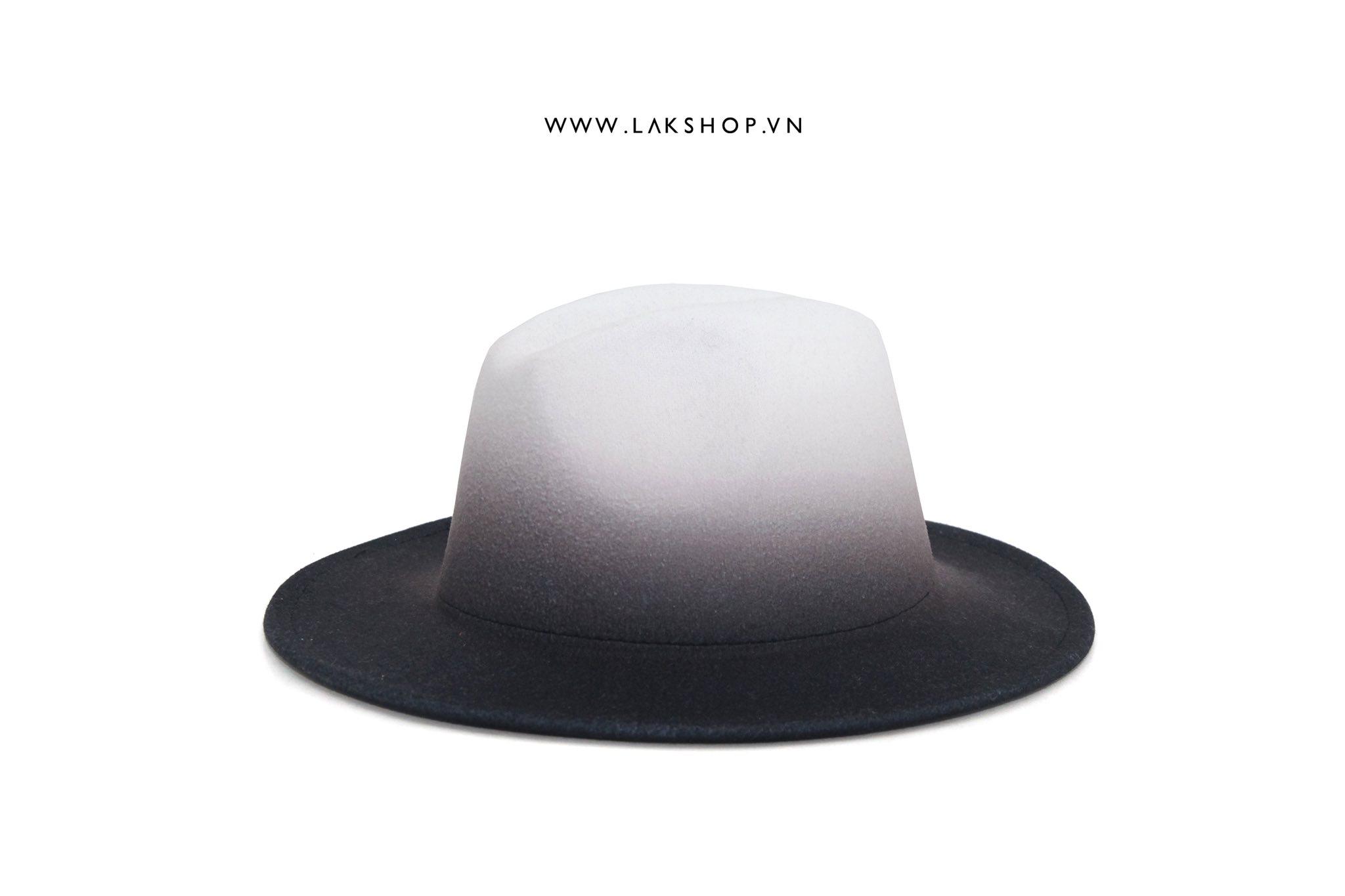 Ombre Fedora White Hat