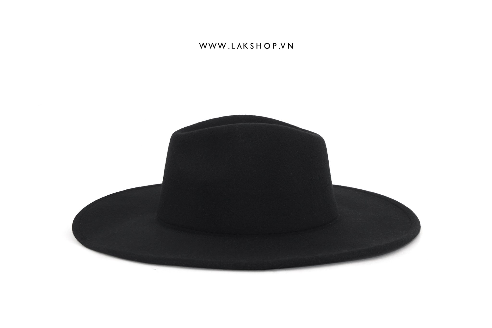 Wide Brim Fedora Black Hat