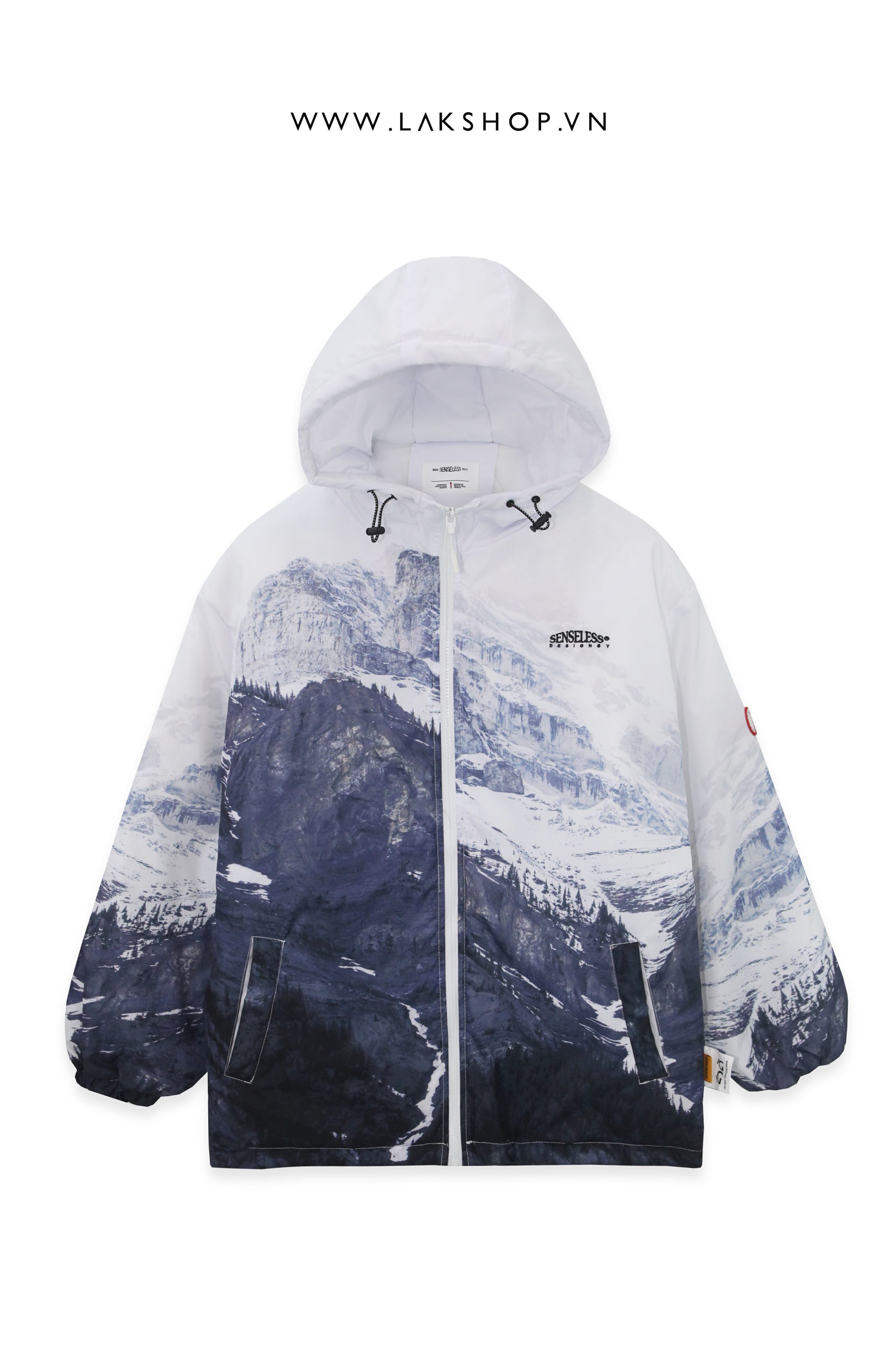 Áo White Mountains Print Padded Jacket ds20