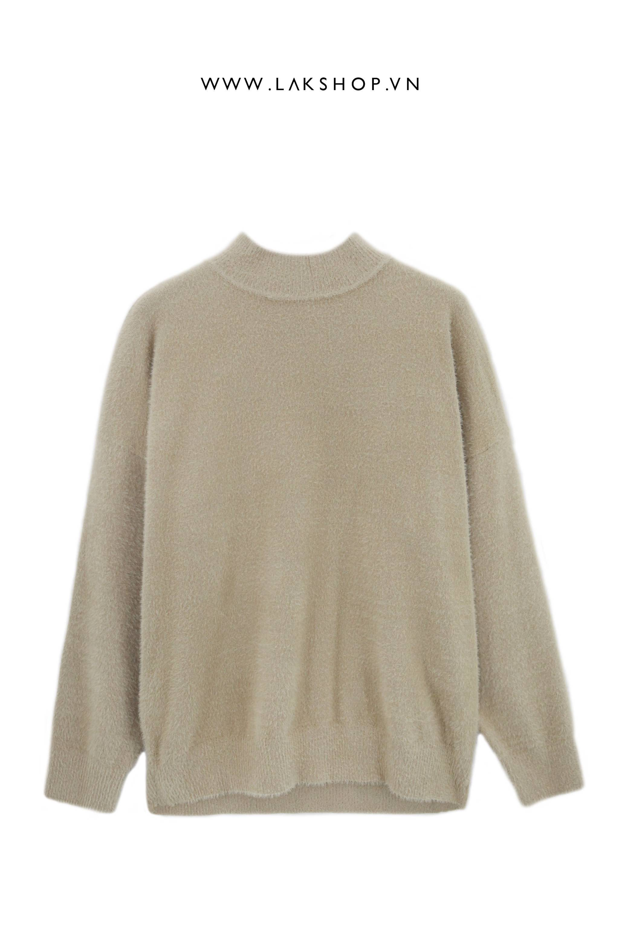 Áo Oversized Mohair Brown Sweater