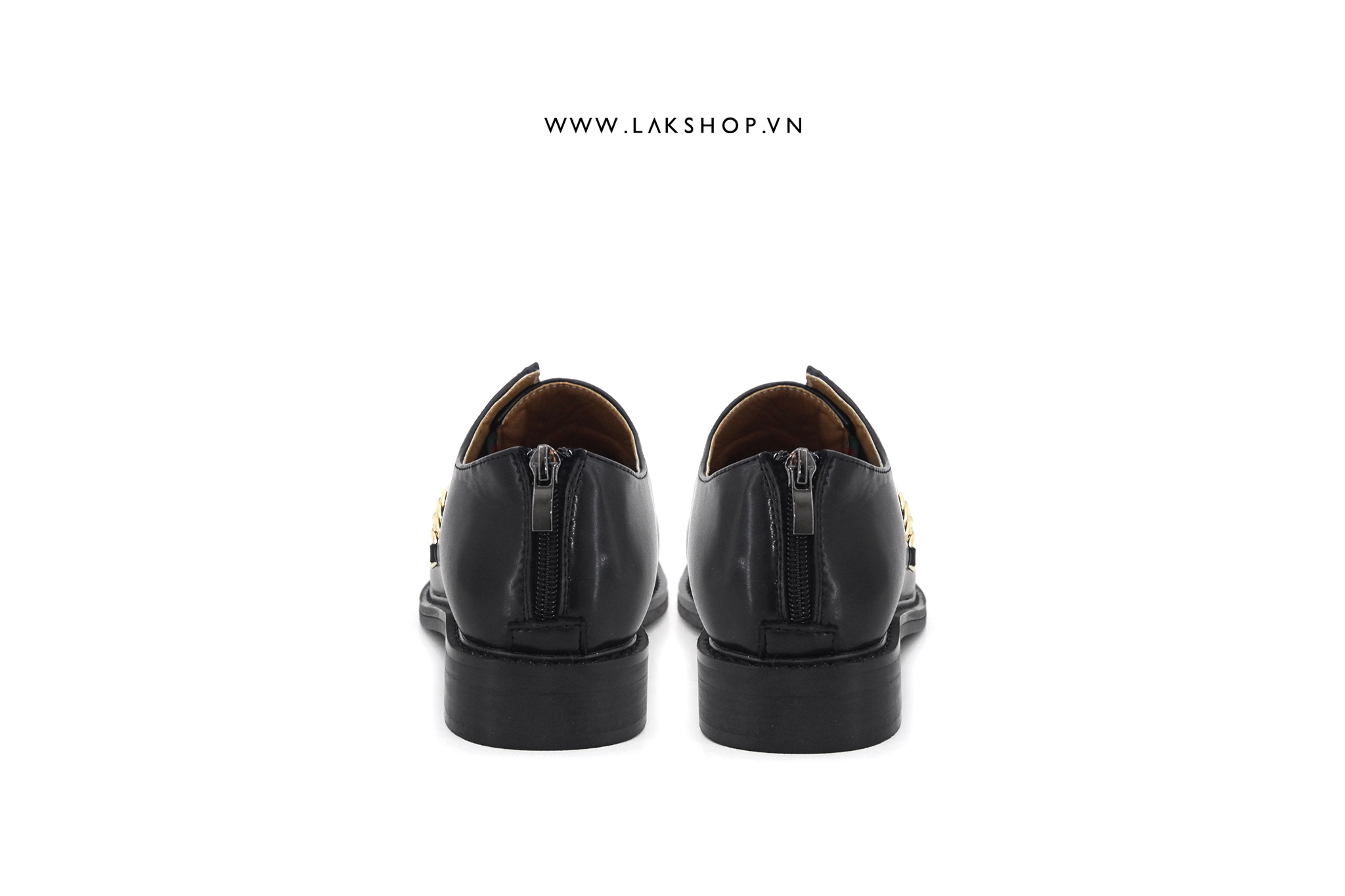 Black Loafers With Chain