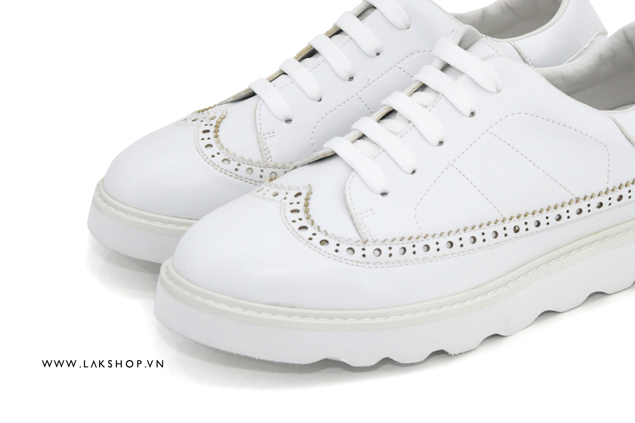 White Creeper Oxford Shoes