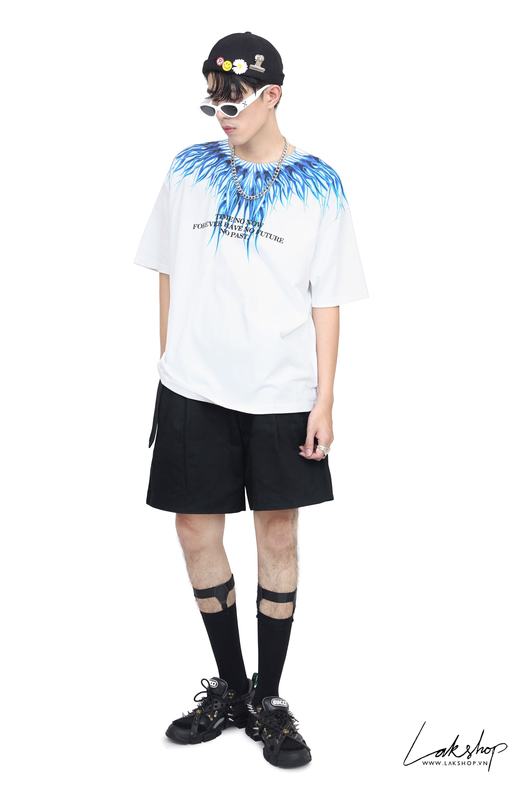 Time No Now Wing White Oversize T-shirt cv4