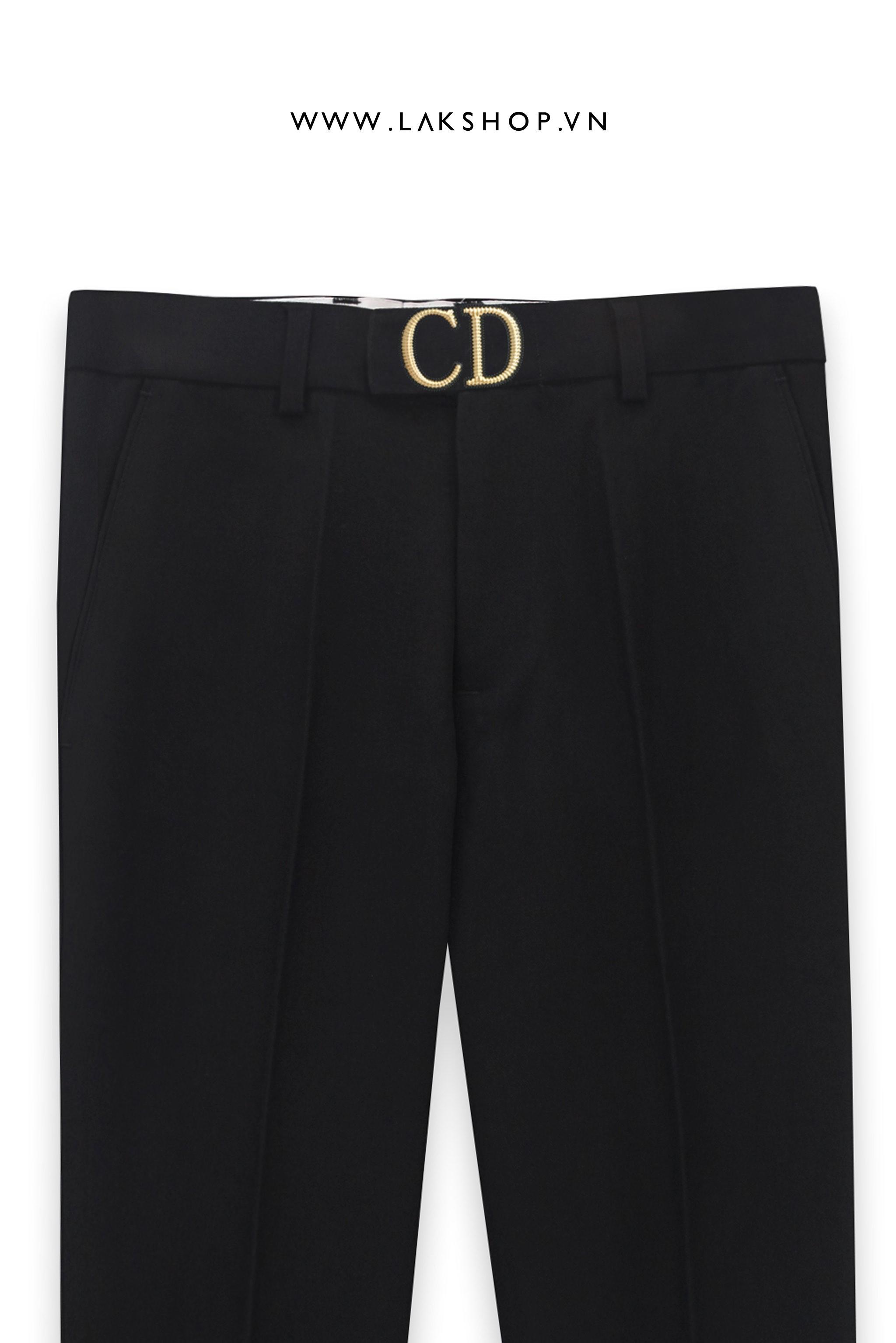 Dior CD Buckle Black Trouser