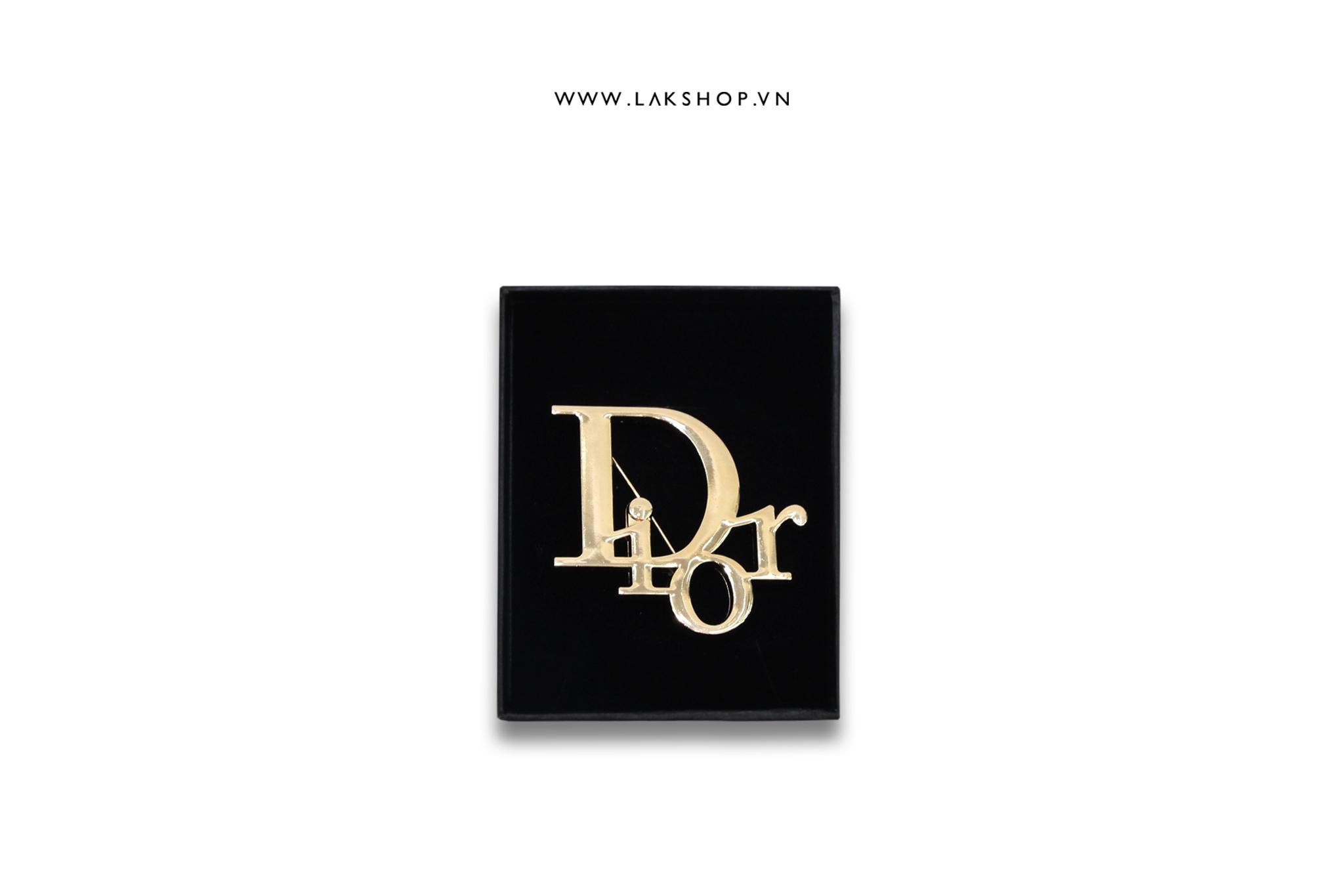 Trâm Cài Logo Dior Vàng