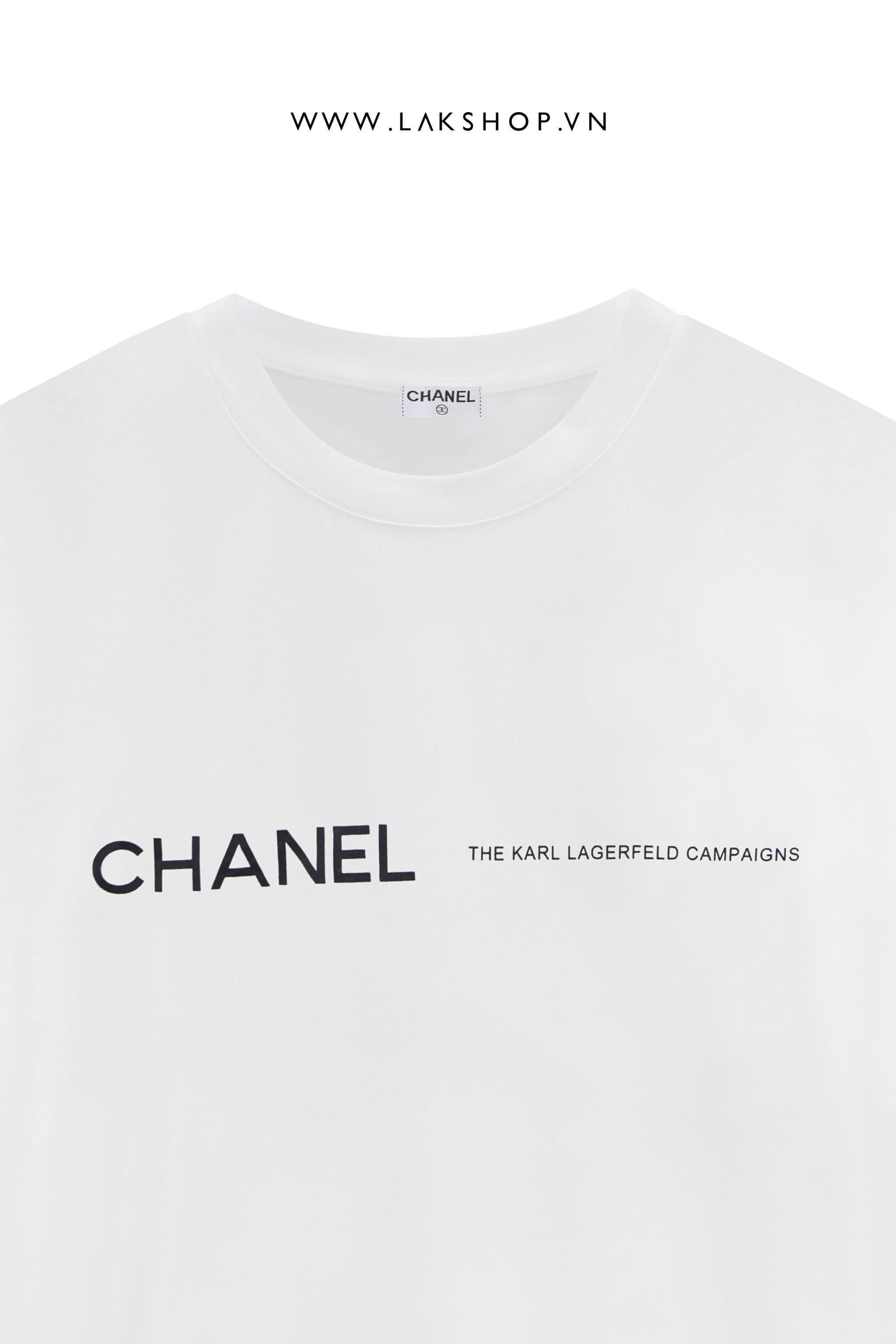 Chanel The Karl Lagerfeld Campaigns Logo T-shirt