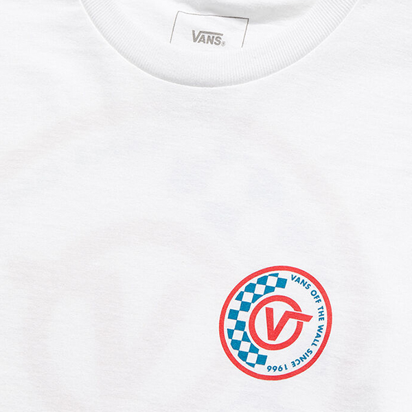Áo Vans Checker Circle V Tee - VN0A49KSWHT