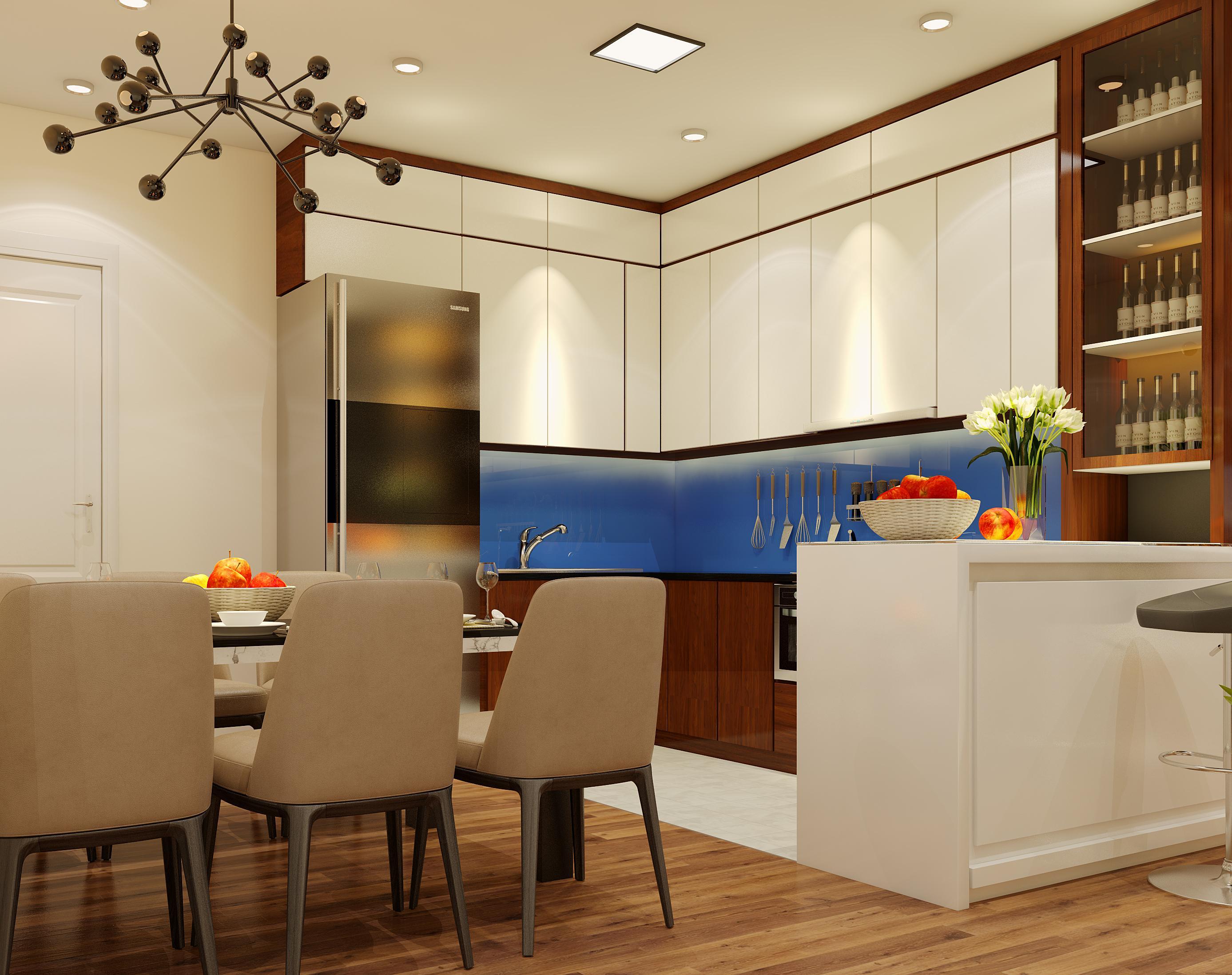 tủ bếp phòng ăn