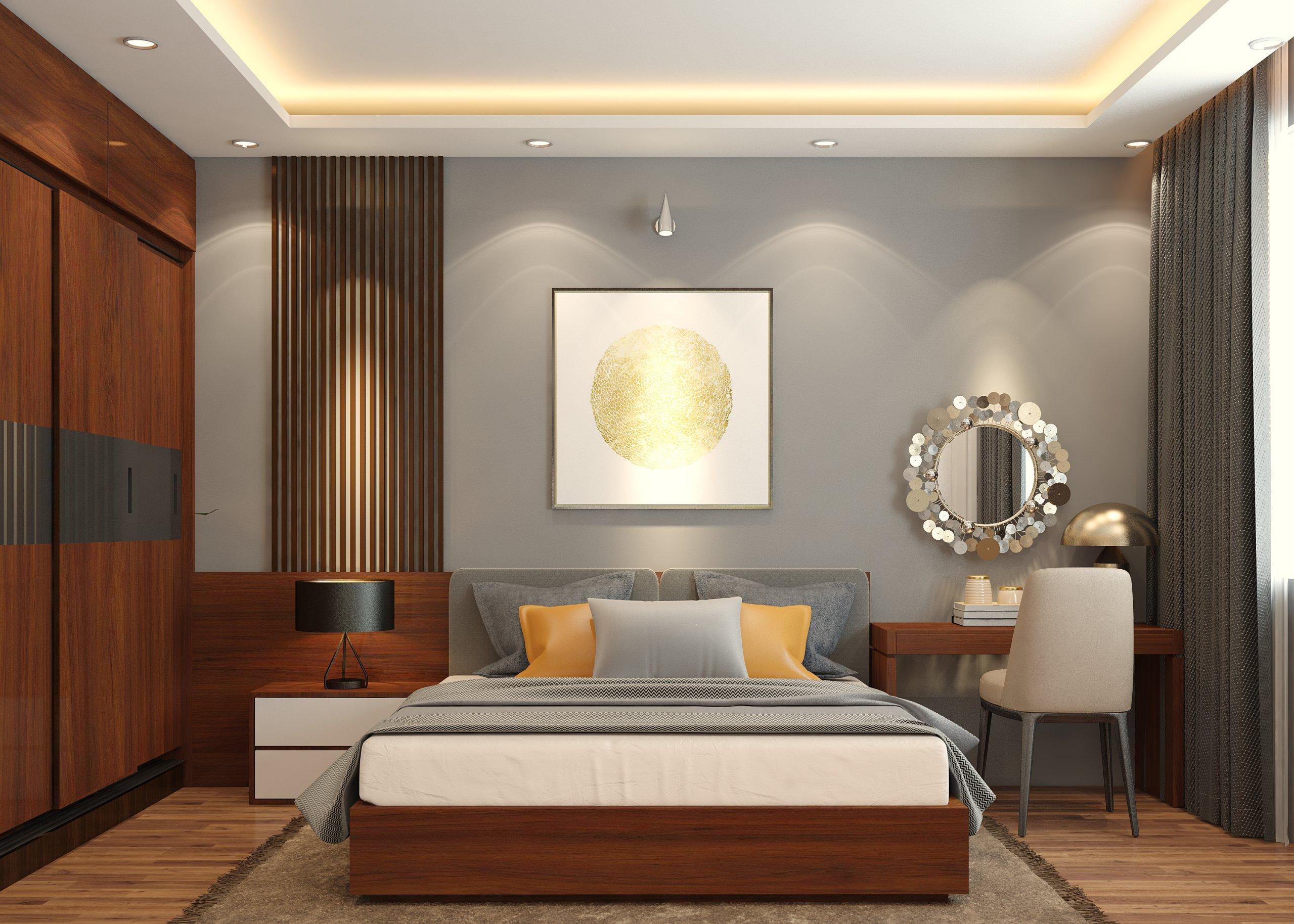 Thiết kế chung cư hai phòng ngủ theo phong cách hiện đại