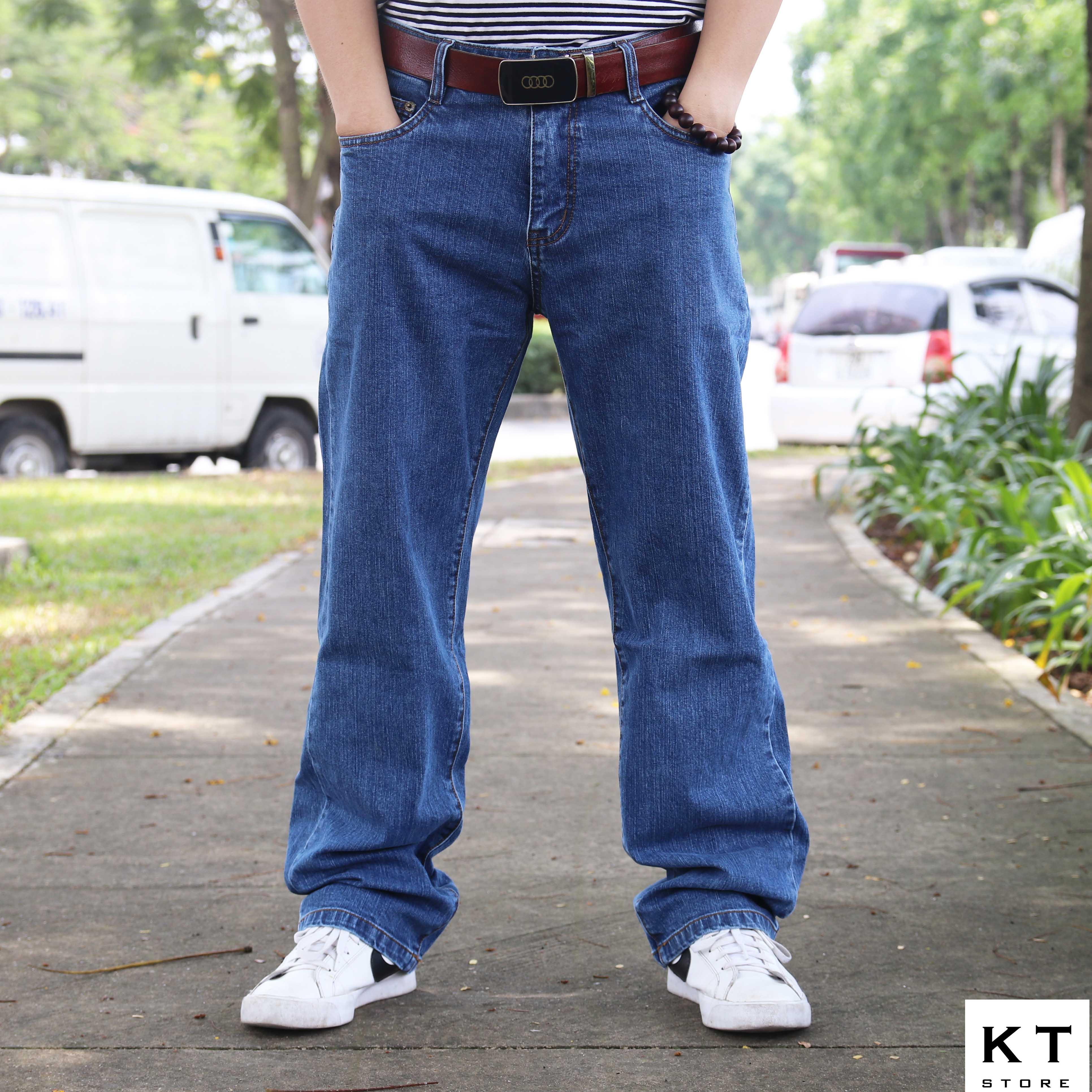 Jeans suông xanh B3